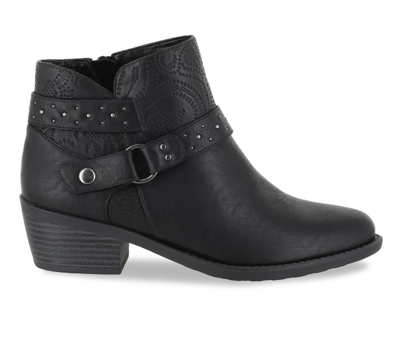Easy Street Leda Women's Boot (Black Faux Leather)