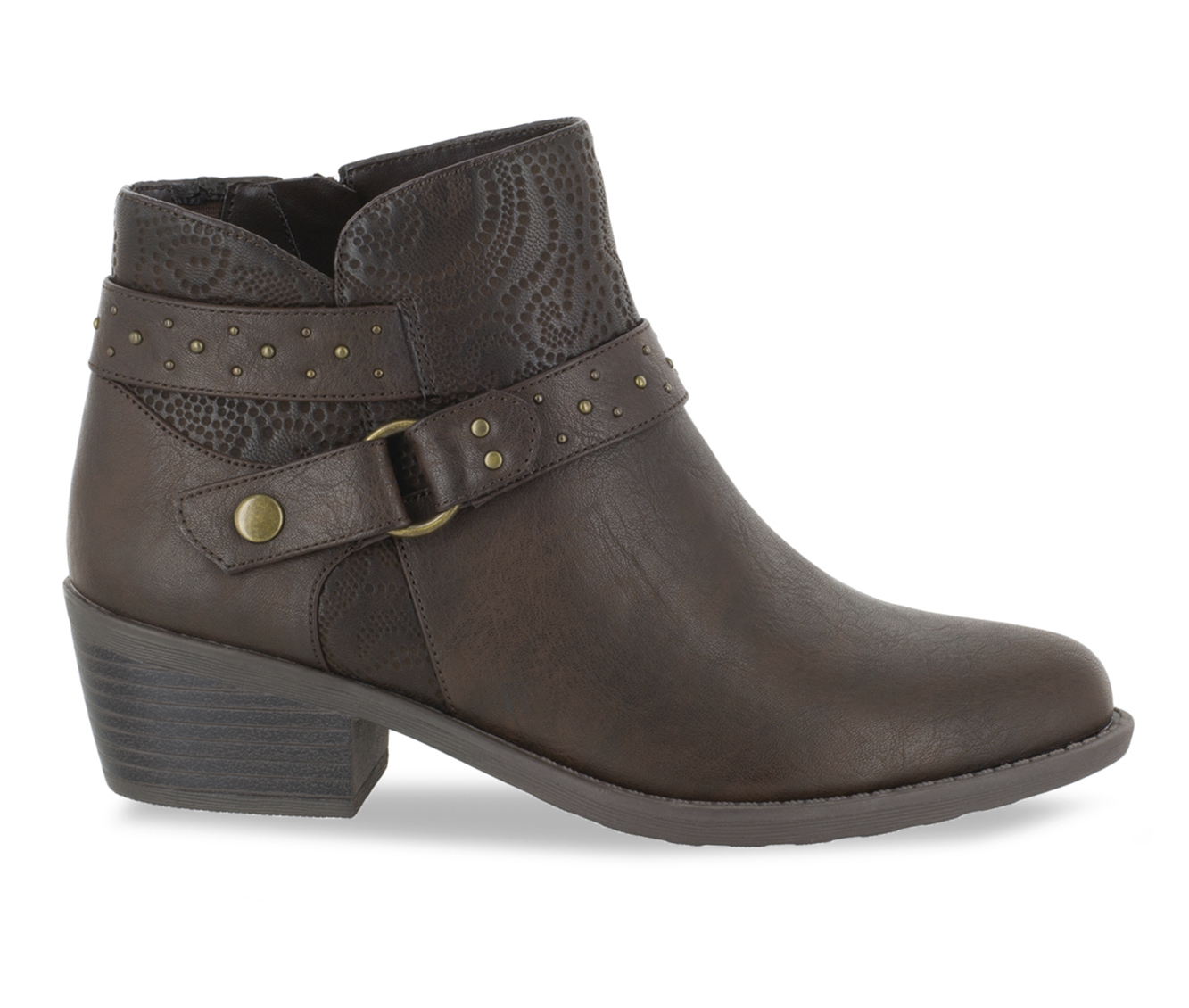 Easy Street Leda Women's Boot (Brown Faux Leather)