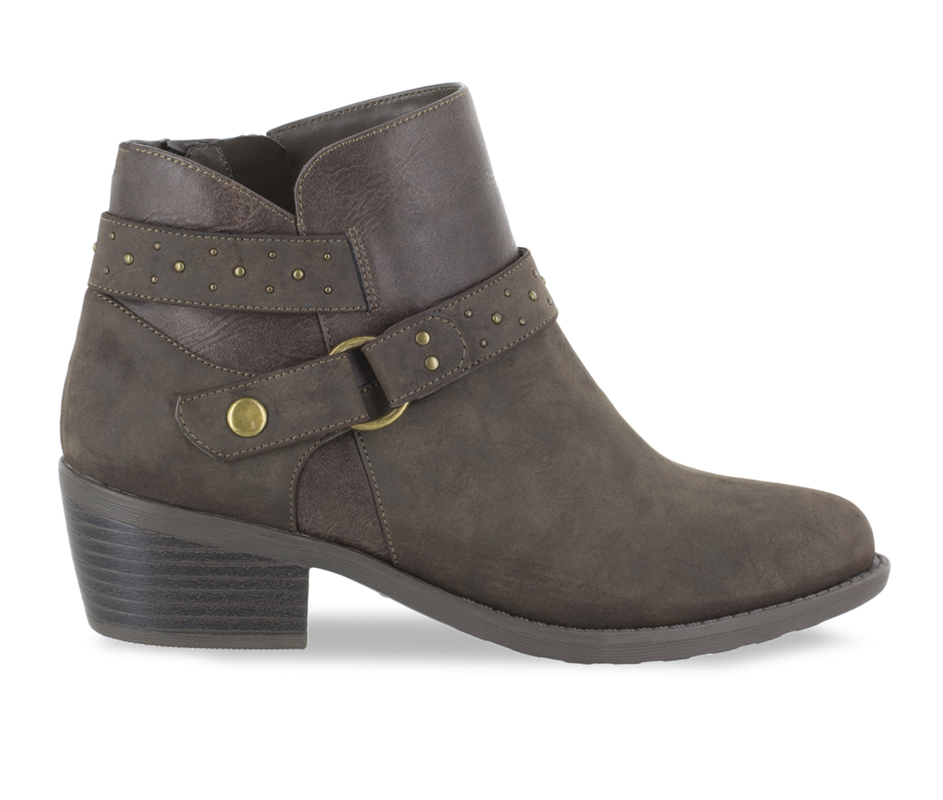 Easy Street Leda Women's Boot (Gray Faux Leather)