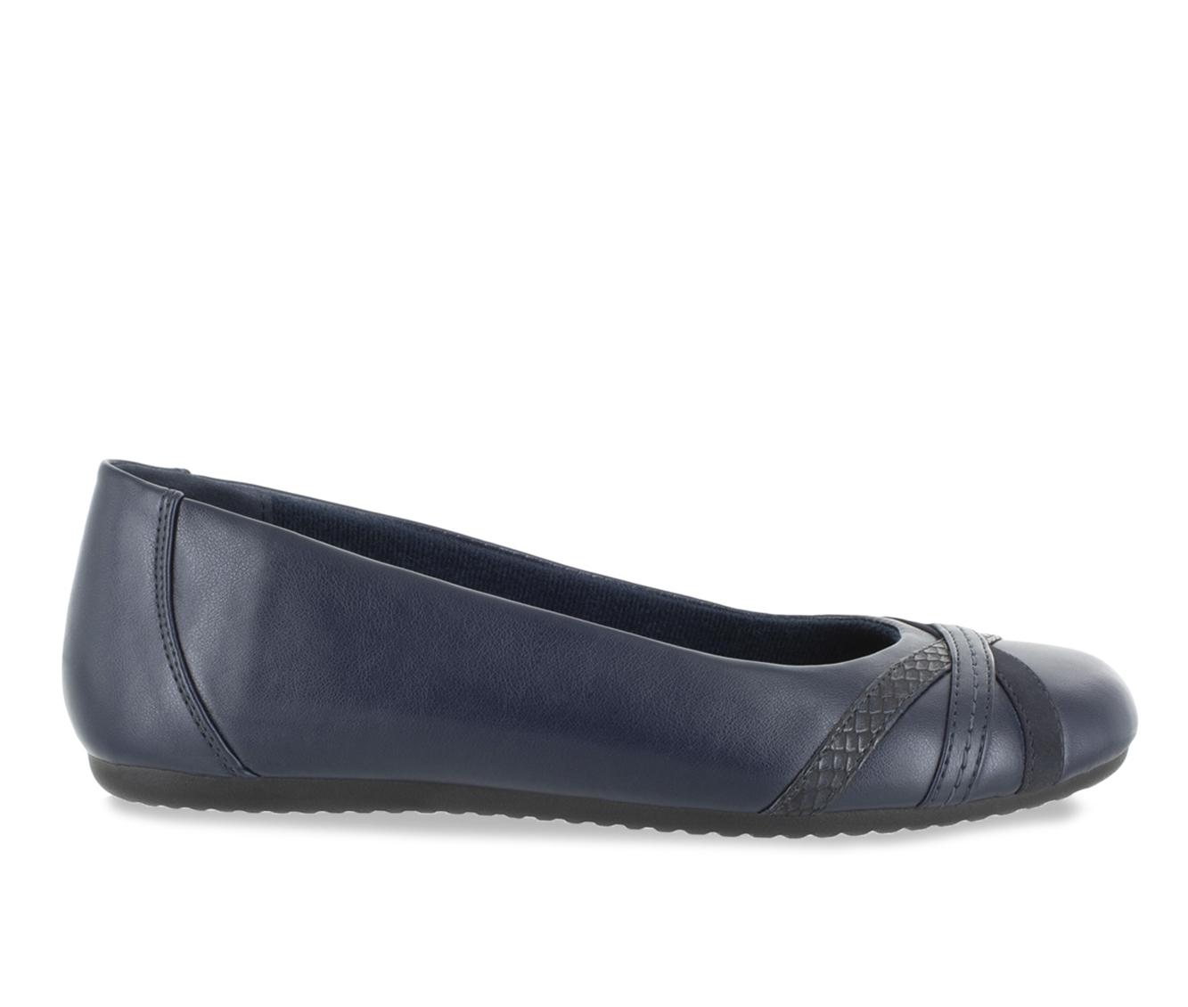 Easy Street Derry Women's Shoe (Blue Faux Leather)