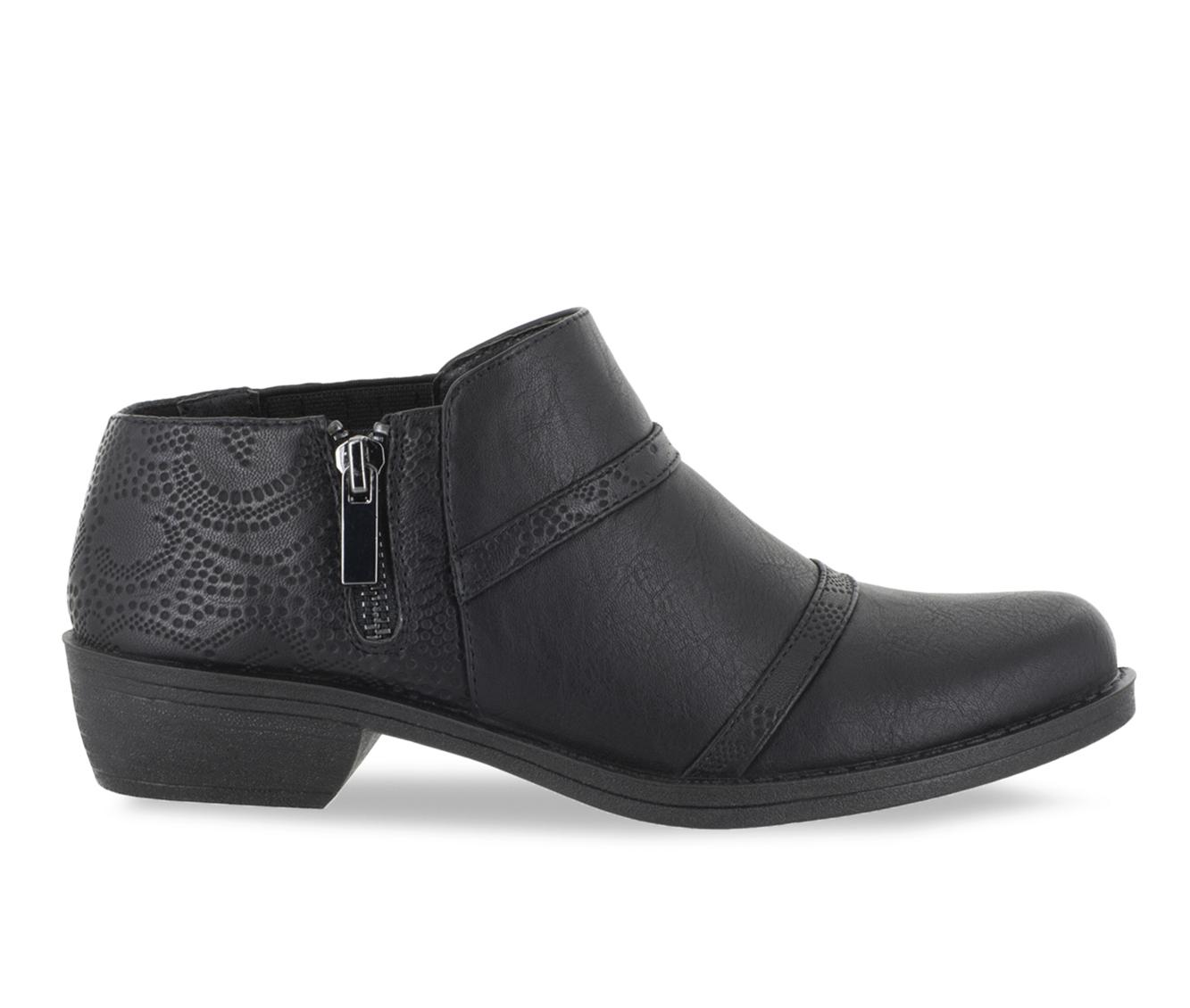 Easy Street Ira Women's Shoe (Black Faux Leather)
