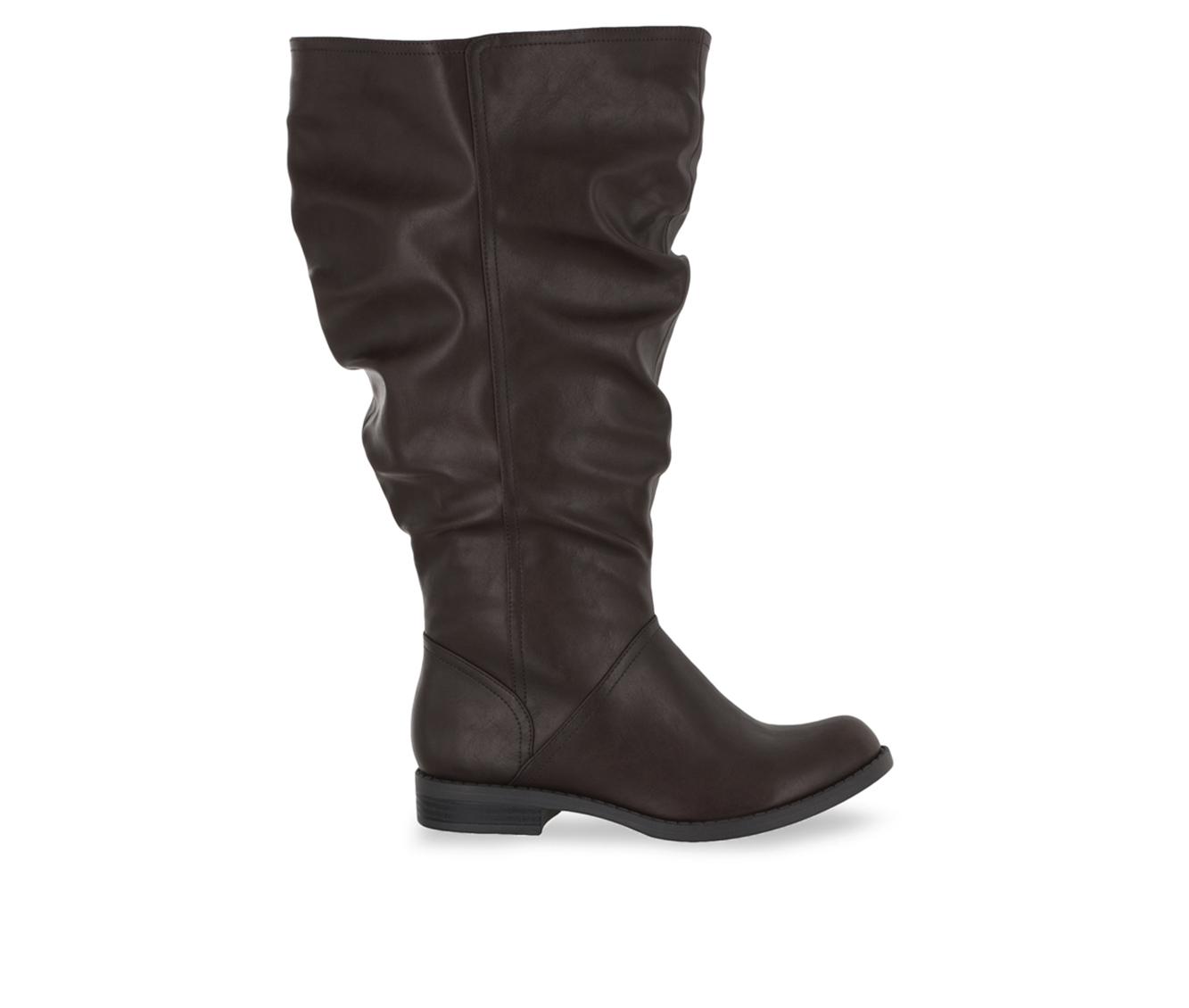 Easy Street Peak Plus Plus Women's Boot (Brown Faux Leather)