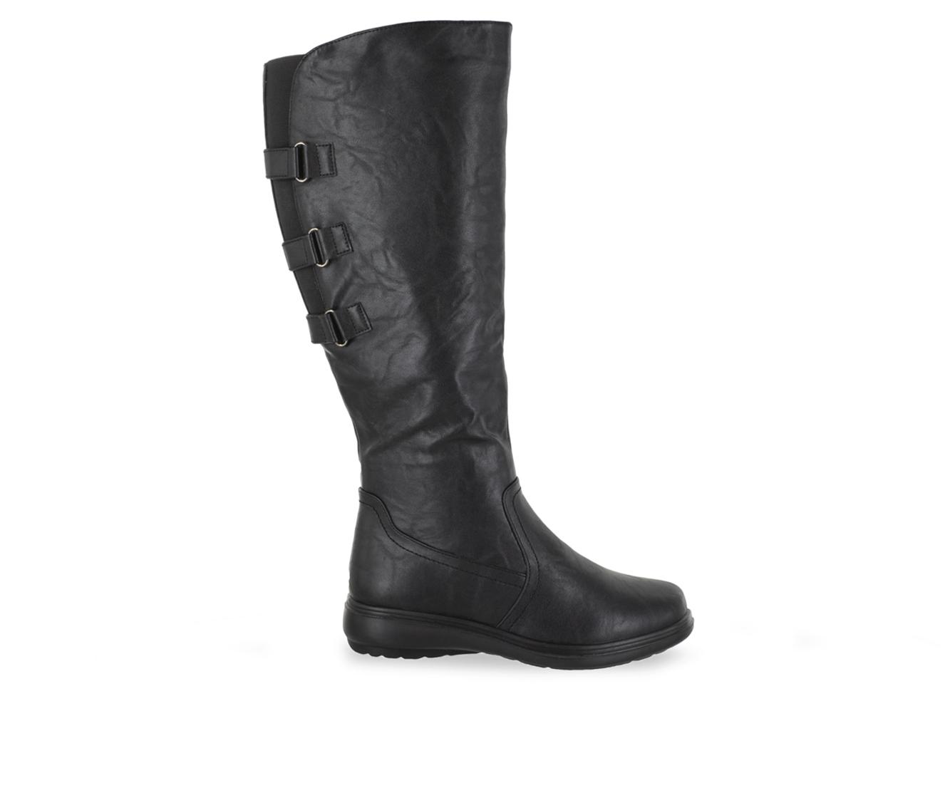 Easy Street Presley Women's Boot (Black Faux Leather)