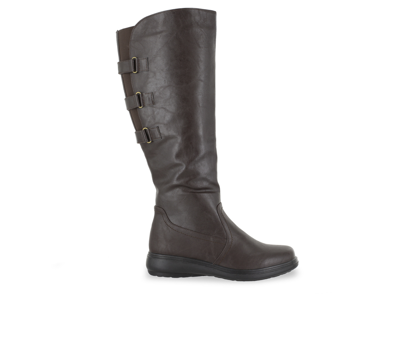 Easy Street Presley Women's Boot (Brown Faux Leather)