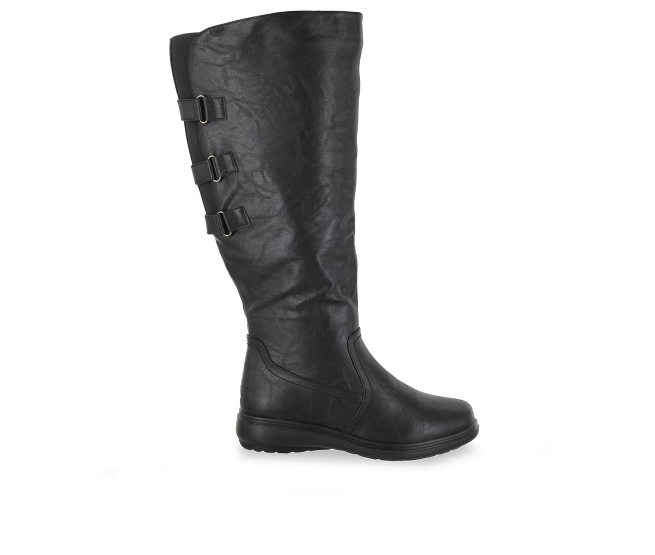 Easy Street Presley Plus Women's Boot (Black Faux Leather)