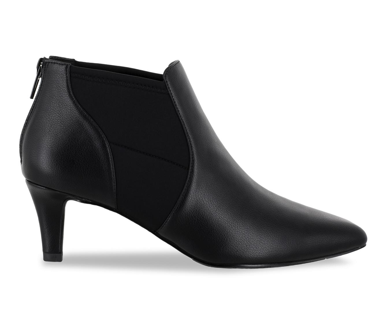 Easy Street Saint Women's Boot (Black Faux Leather)