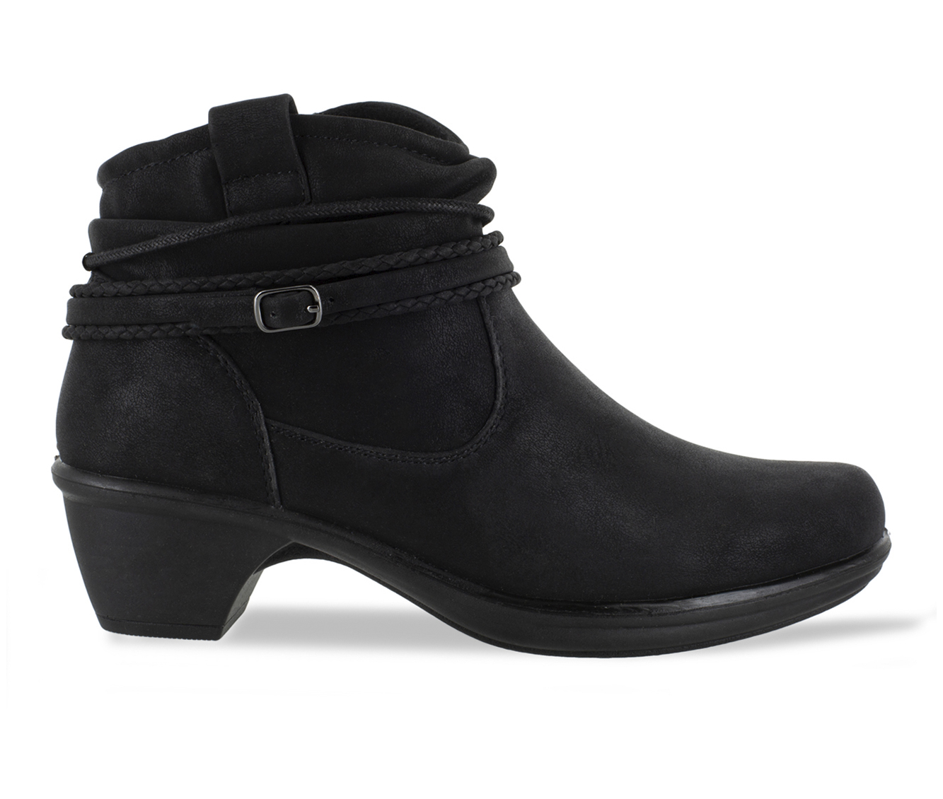 Easy Street Wrangle Women's Boot (Black Faux Leather)
