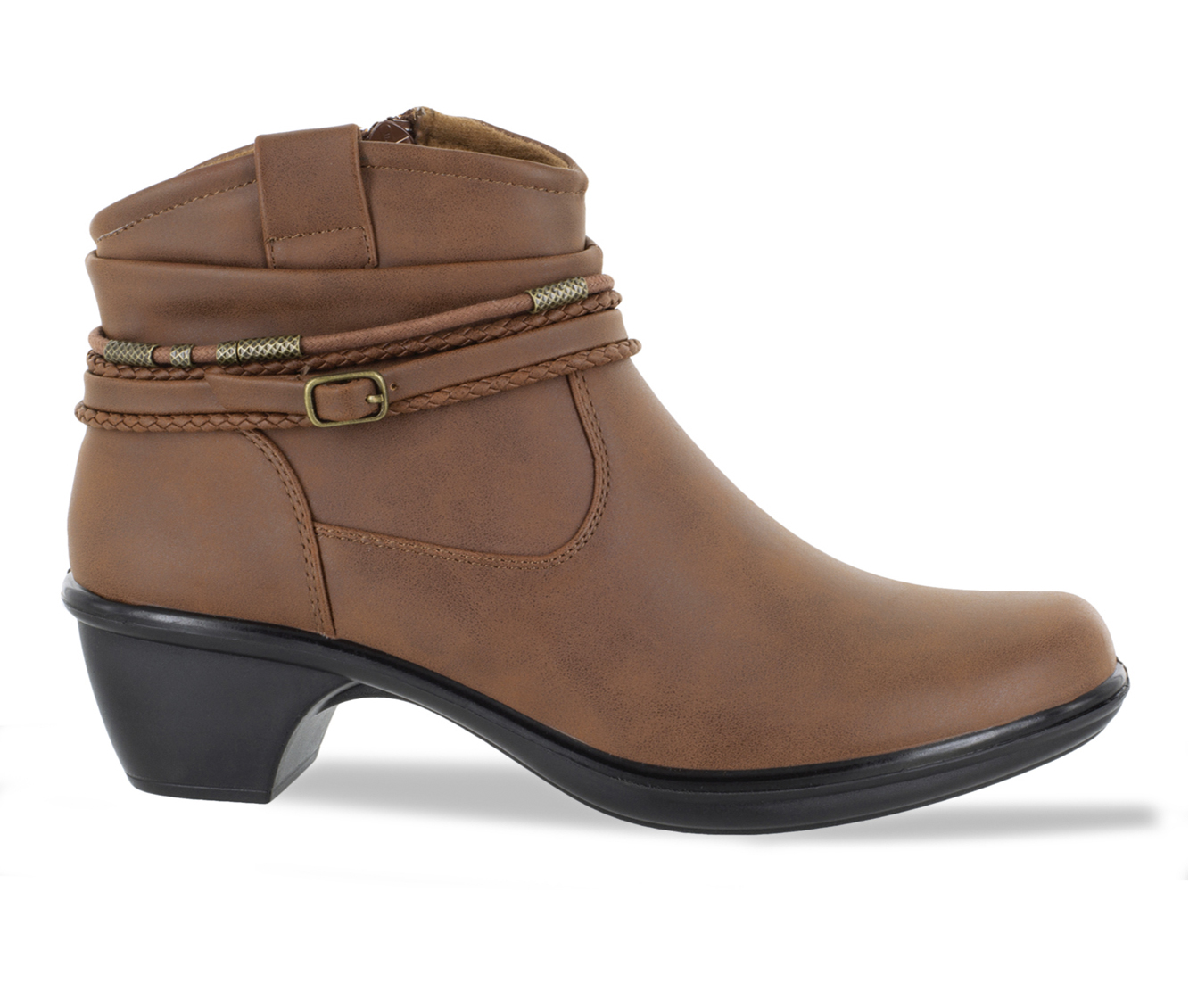 Easy Street Wrangle Women's Boot (Brown Faux Leather)