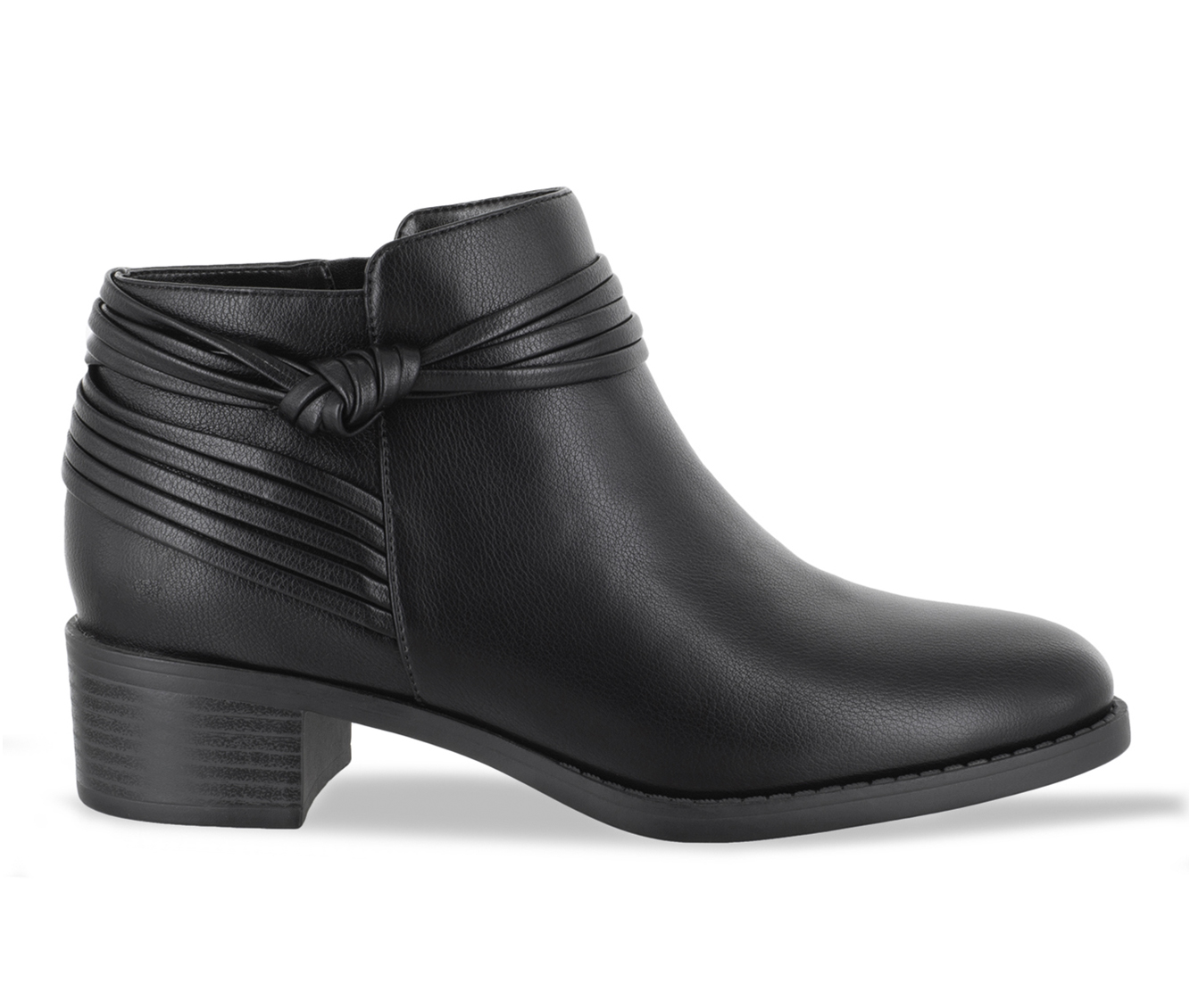 Easy Street Wylie Women's Boot (Black Faux Leather)