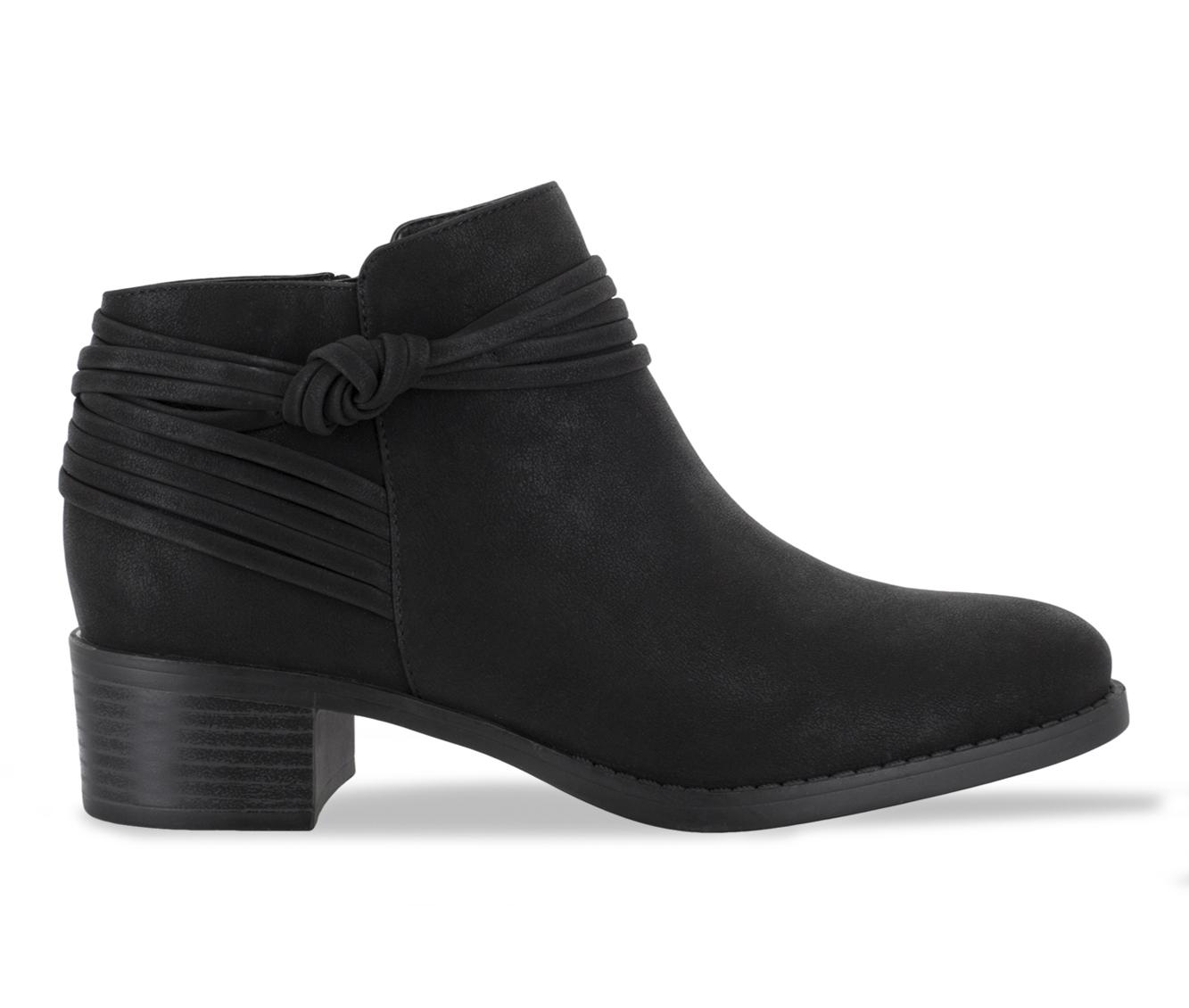 Easy Street Wylie Women's Boot (Black Canvas)