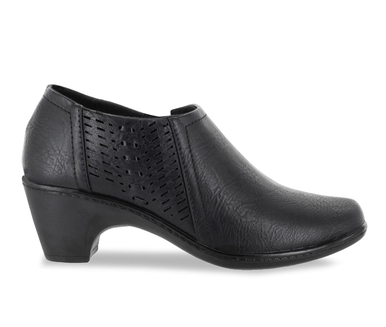 Easy Street Notch Women's Shoe (Black Faux Leather)