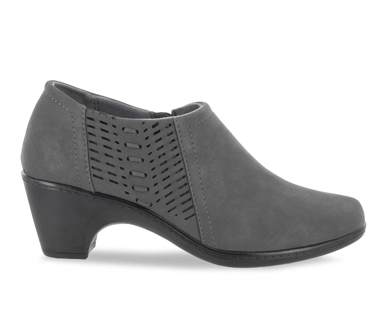 Easy Street Notch Women's Shoe (Gray Faux Leather)