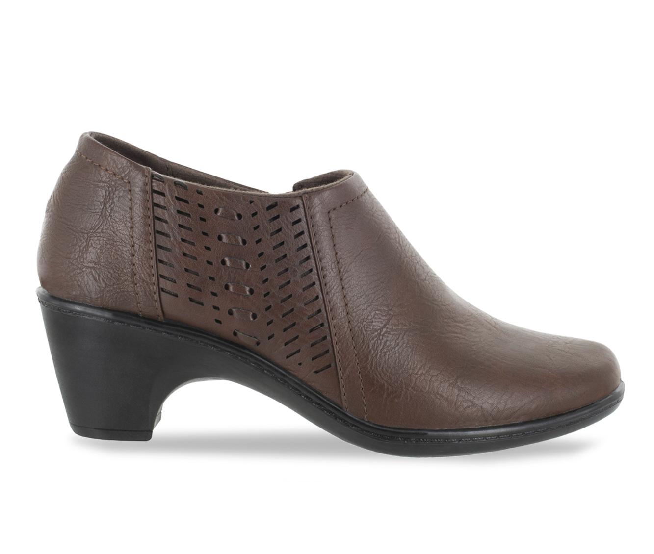 Easy Street Notch Women's Shoe (Brown Faux Leather)