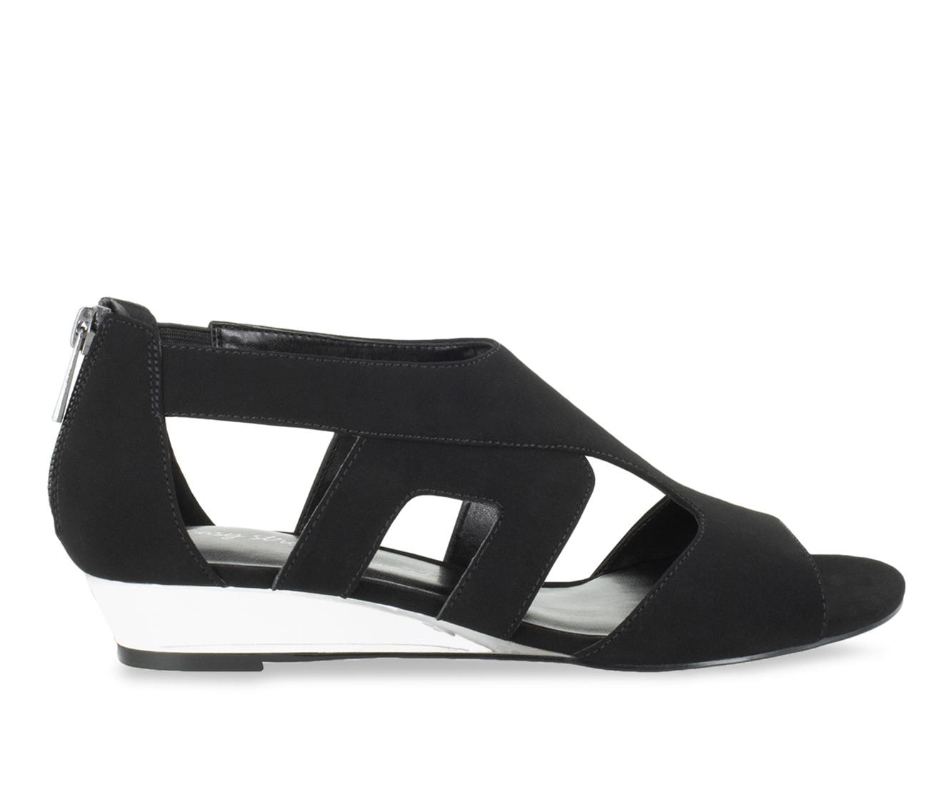 Easy Street Abra Women's Dress Shoe (Black Faux Leather)