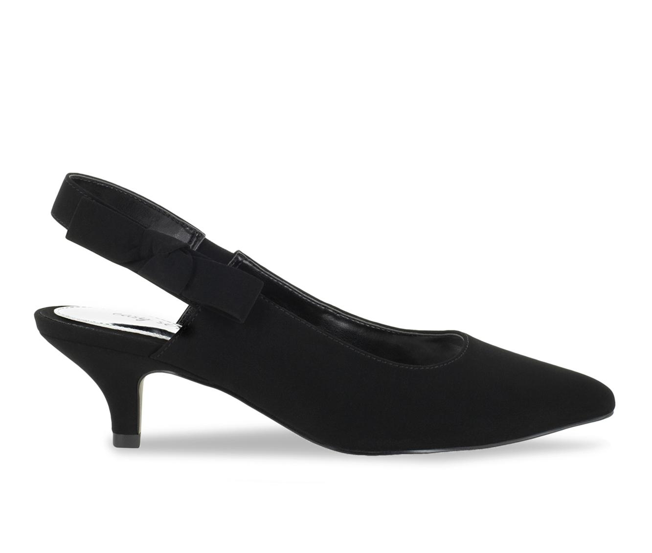 Easy Street Arden Women's Dress Shoe (Black Faux Leather)