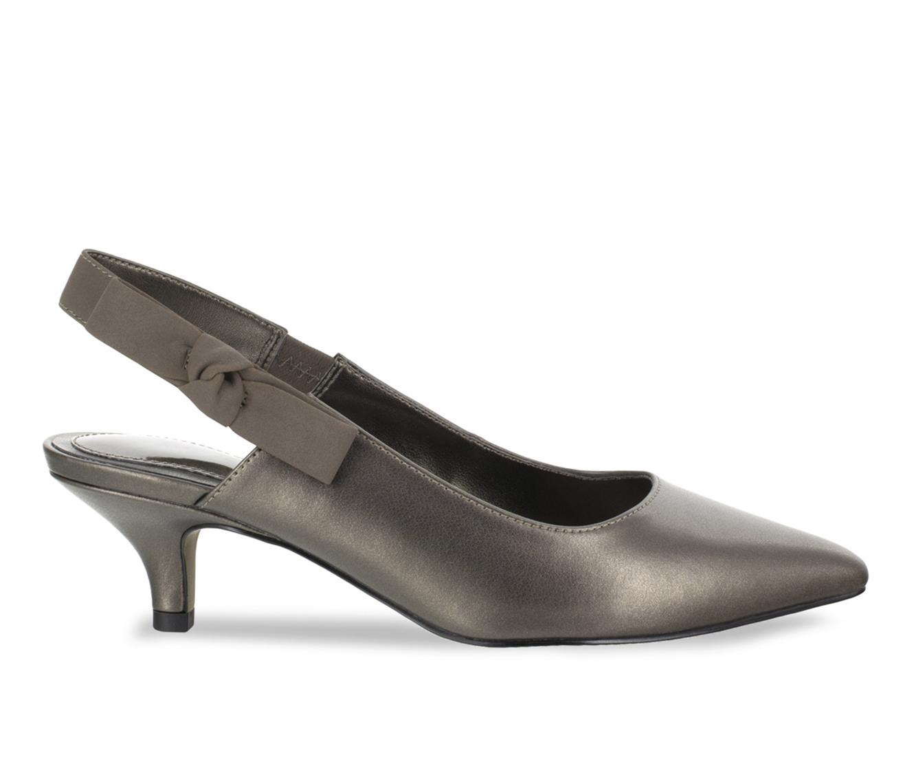 Easy Street Arden Women's Dress Shoe (Silver Faux Leather)