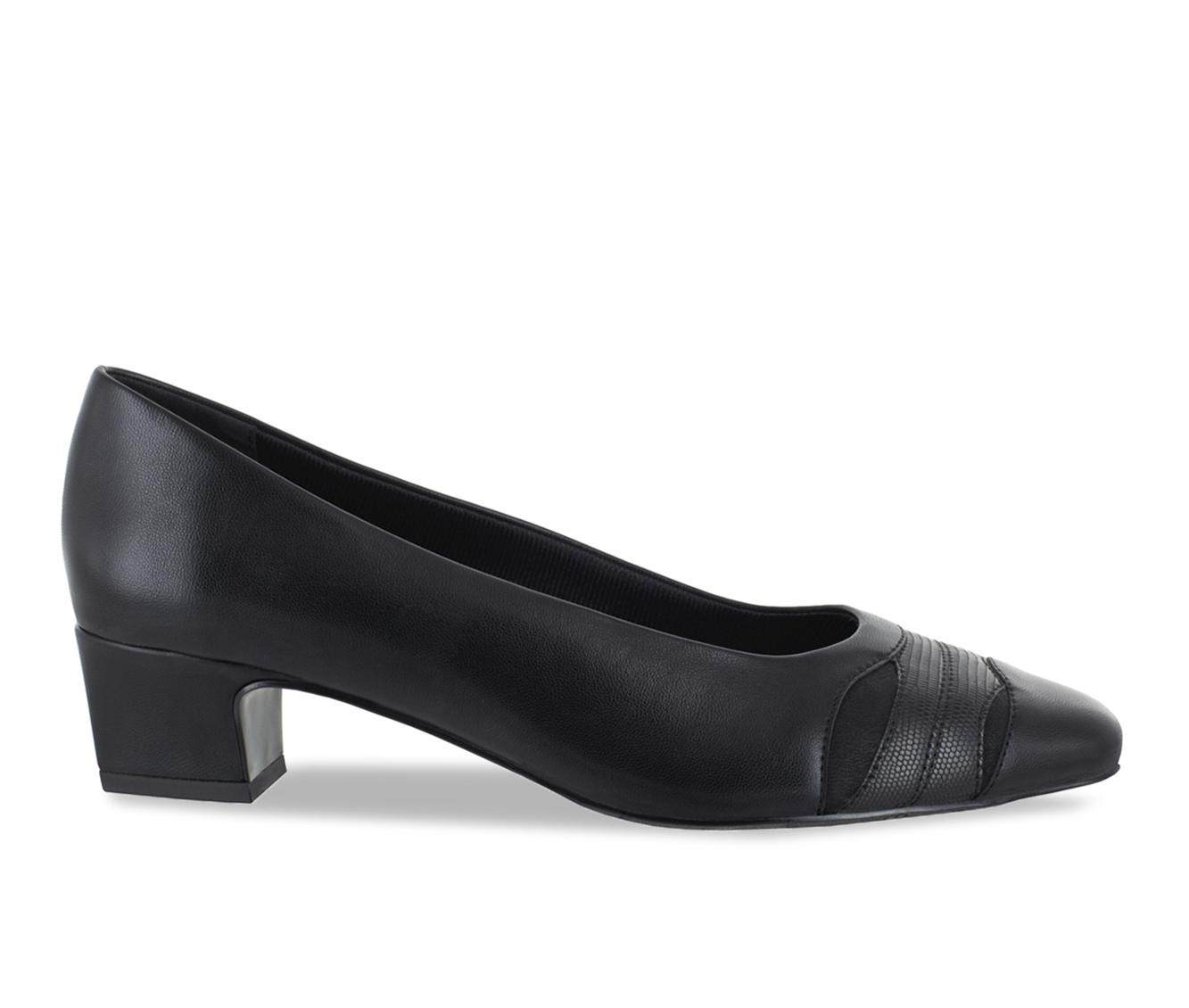 Easy Street Babette Women's Dress Shoe (Black Faux Leather)