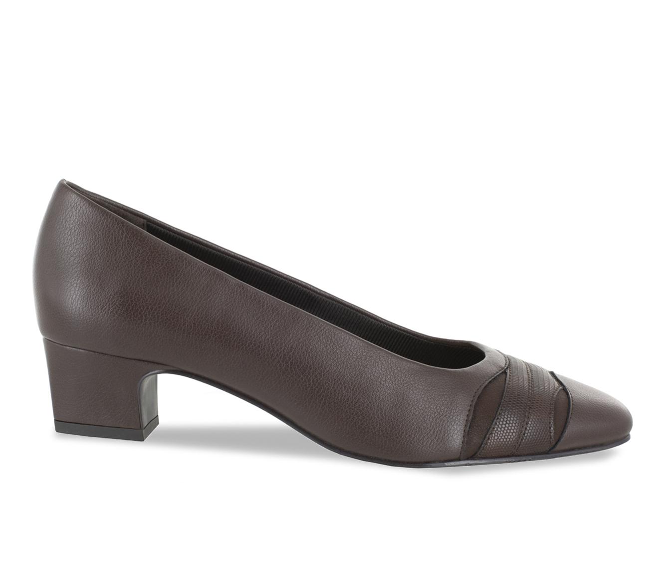 Easy Street Babette Women's Dress Shoe (Brown Faux Leather)