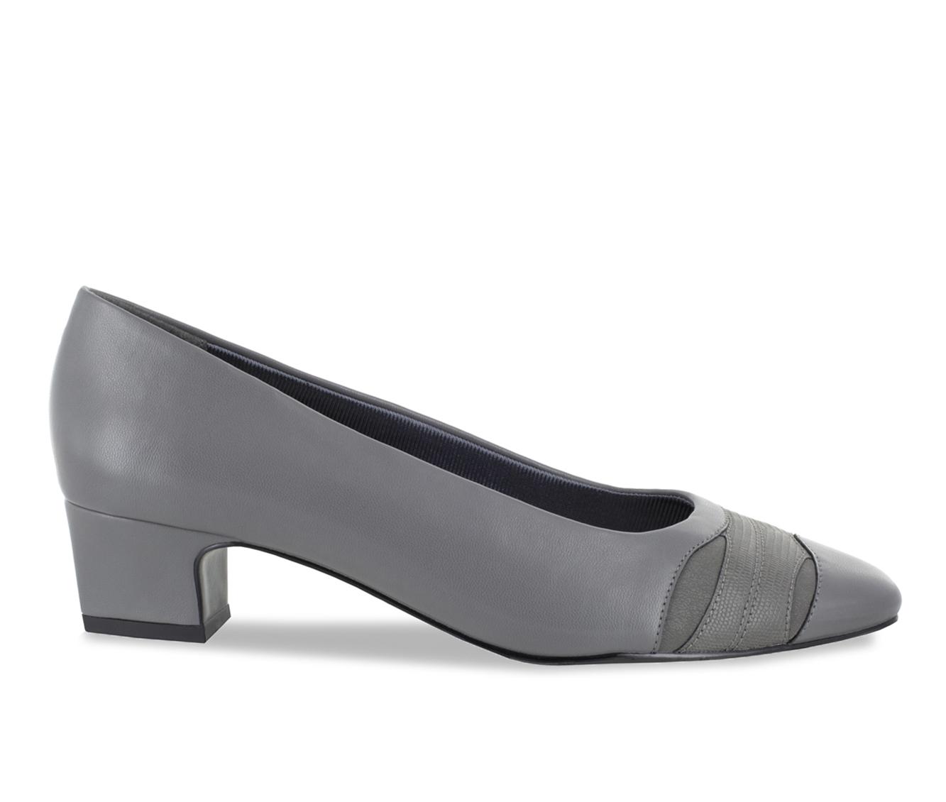 Easy Street Babette Women's Dress Shoe (Gray Faux Leather)