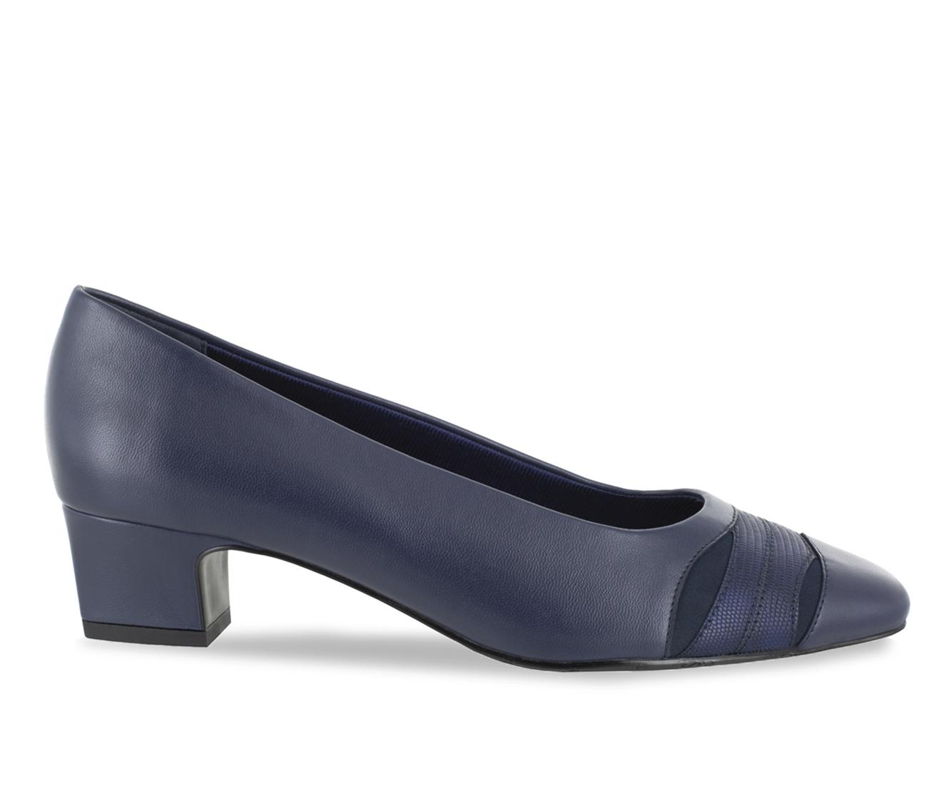 Easy Street Babette Women's Dress Shoe (Blue Faux Leather)