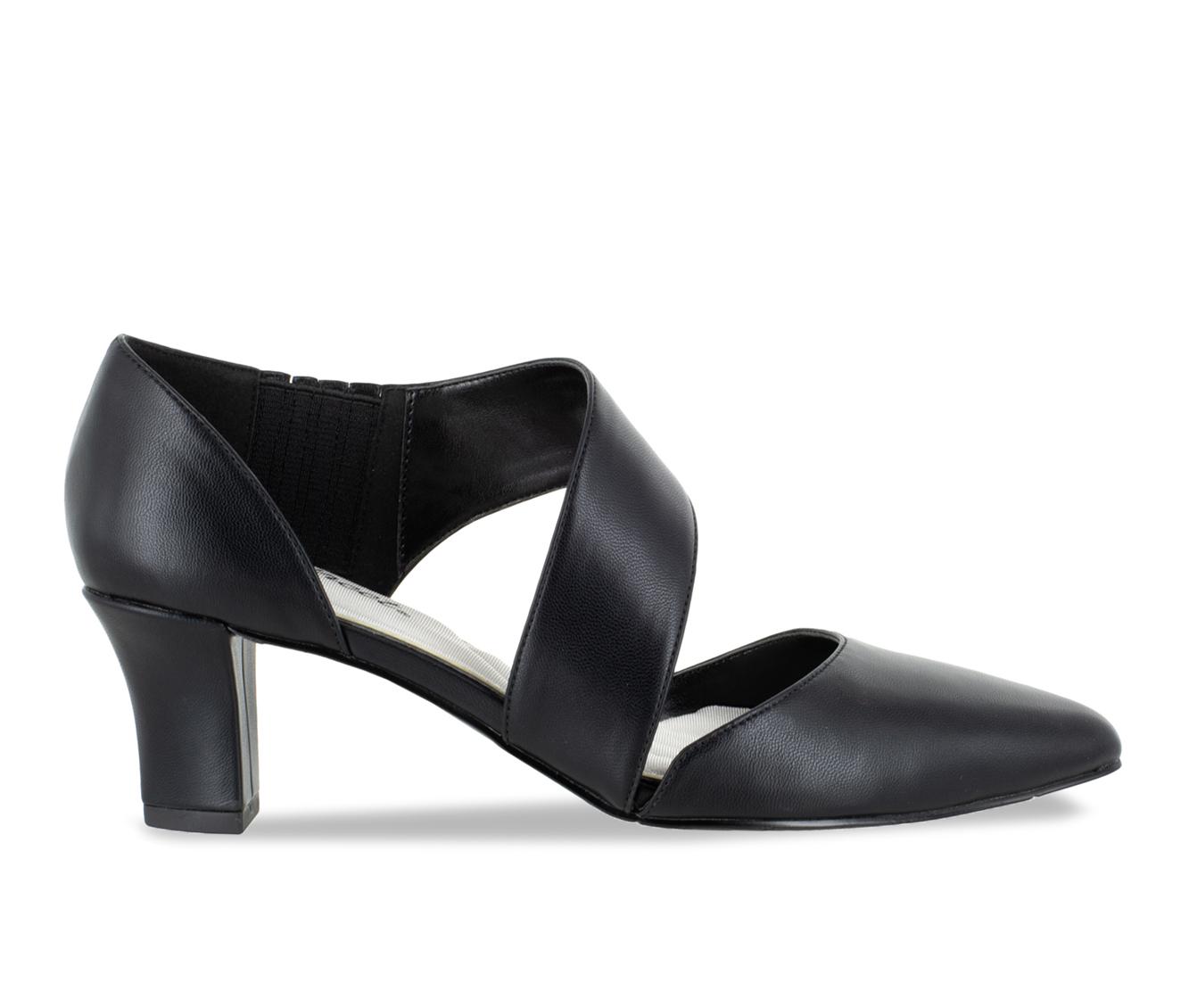 Easy Street Dashing Women's Dress Shoe (Black Faux Leather)