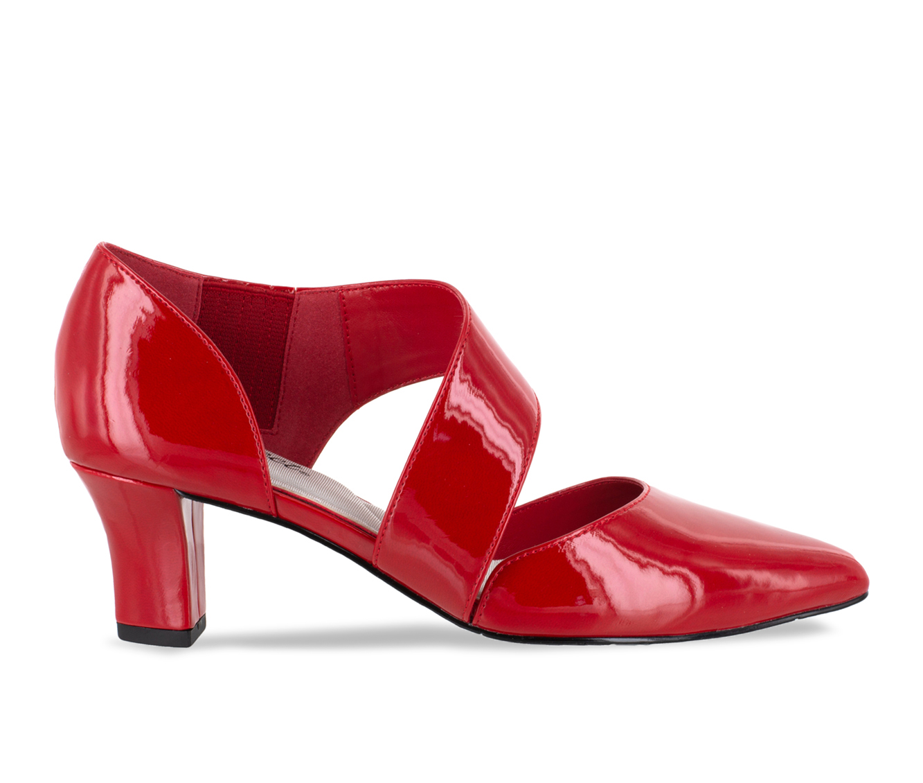 Easy Street Dashing Women's Dress Shoe (Red Faux Leather)