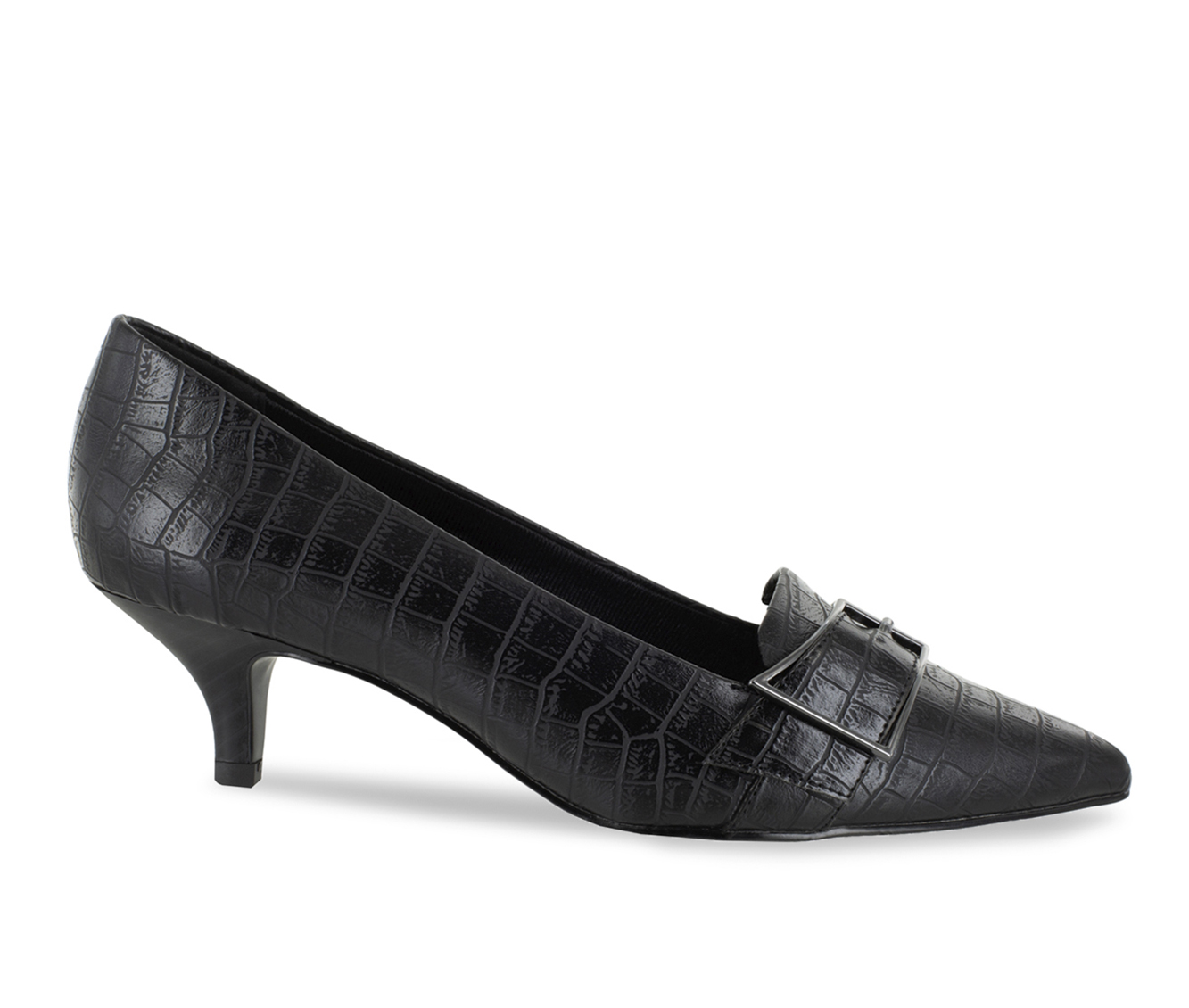 Easy Street Exquisite Women's Dress Shoe (Black Faux Leather)