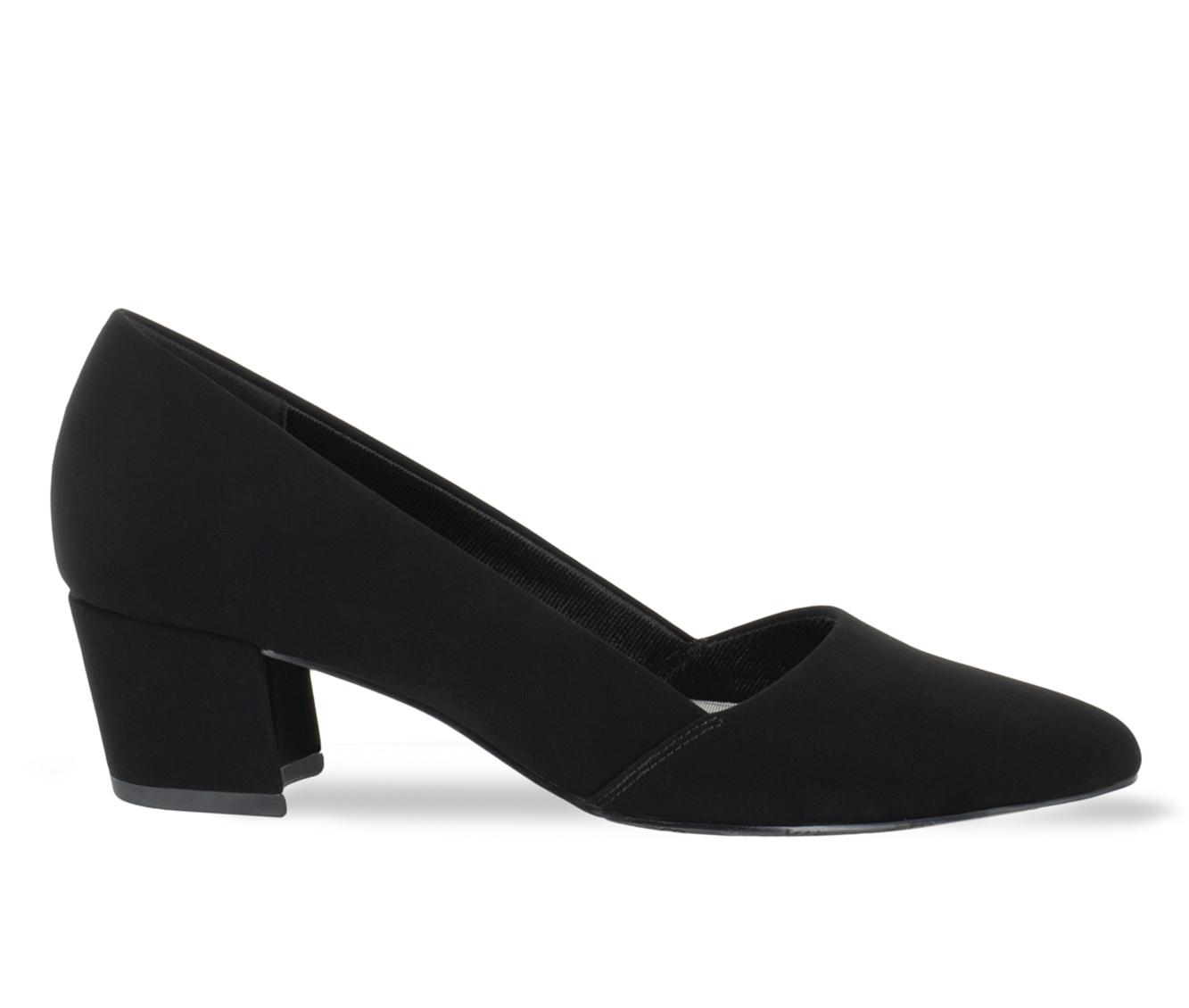 Easy Street Temple Women's Dress Shoe (Black Canvas)