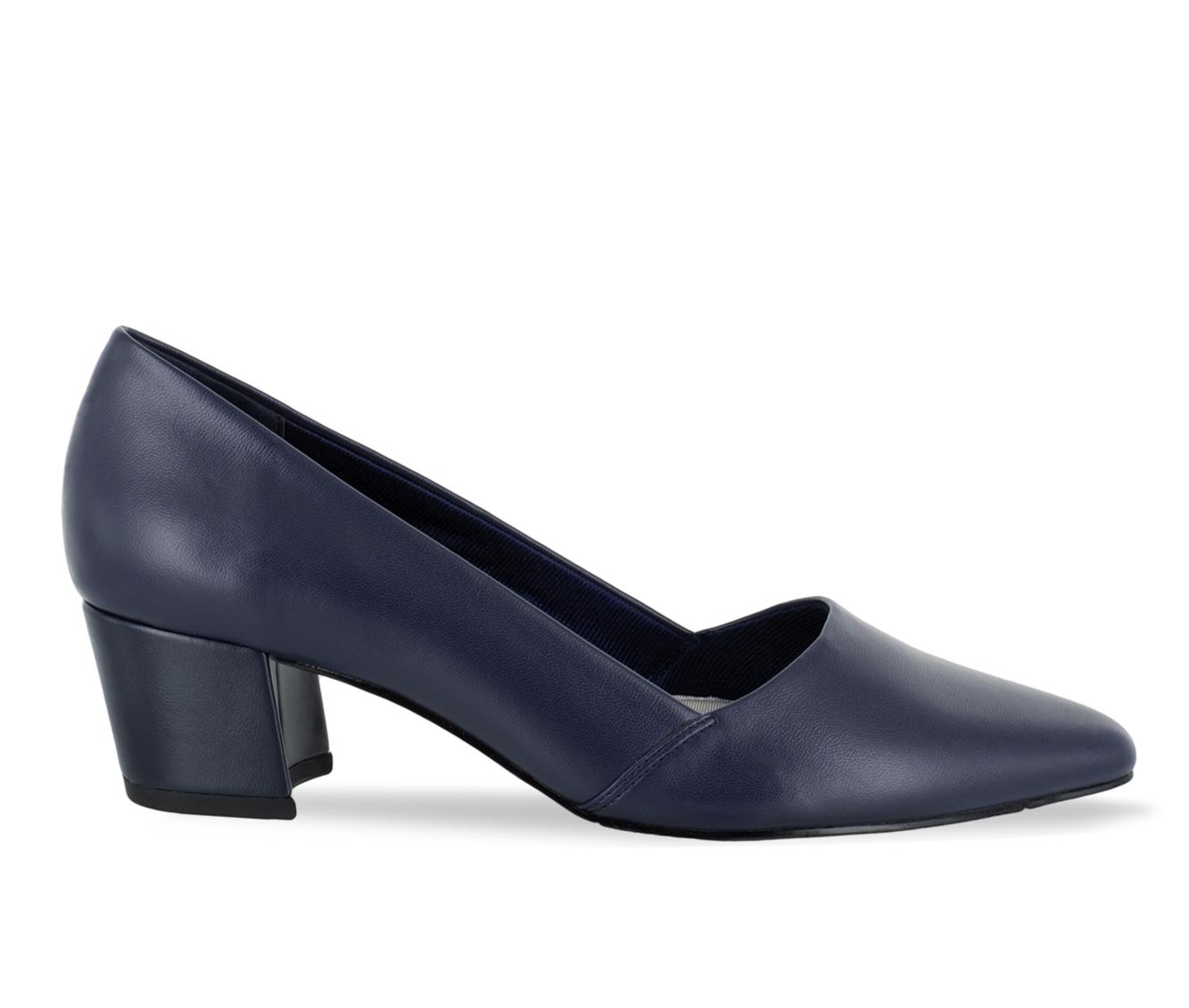 Easy Street Temple Women's Dress Shoe (Blue Faux Leather)