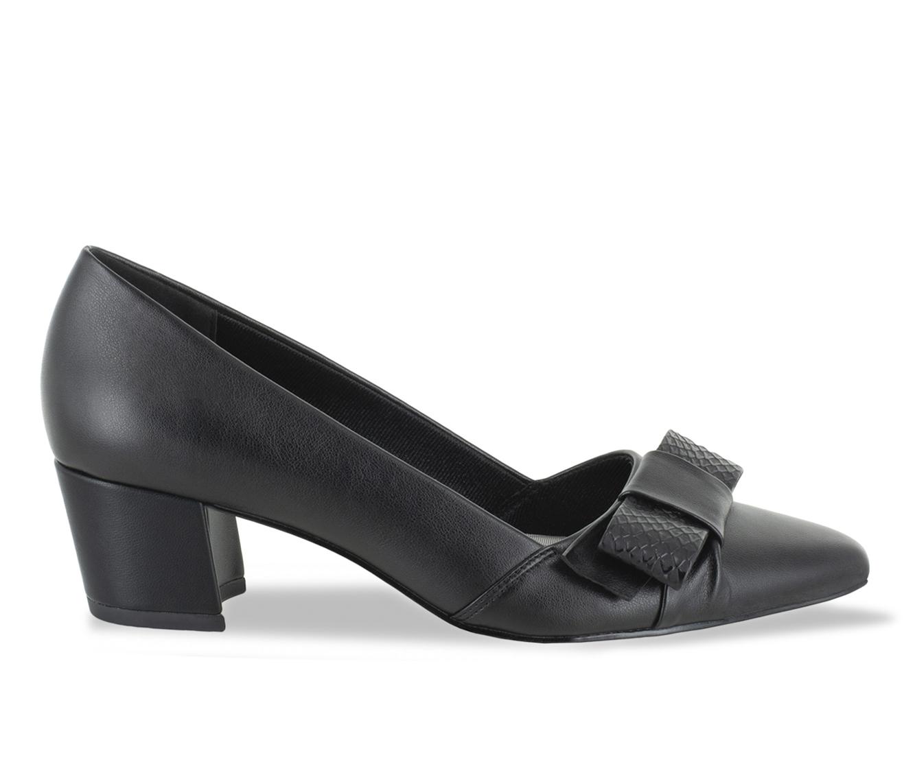 Easy Street Triana Women's Dress Shoe (Black Faux Leather)