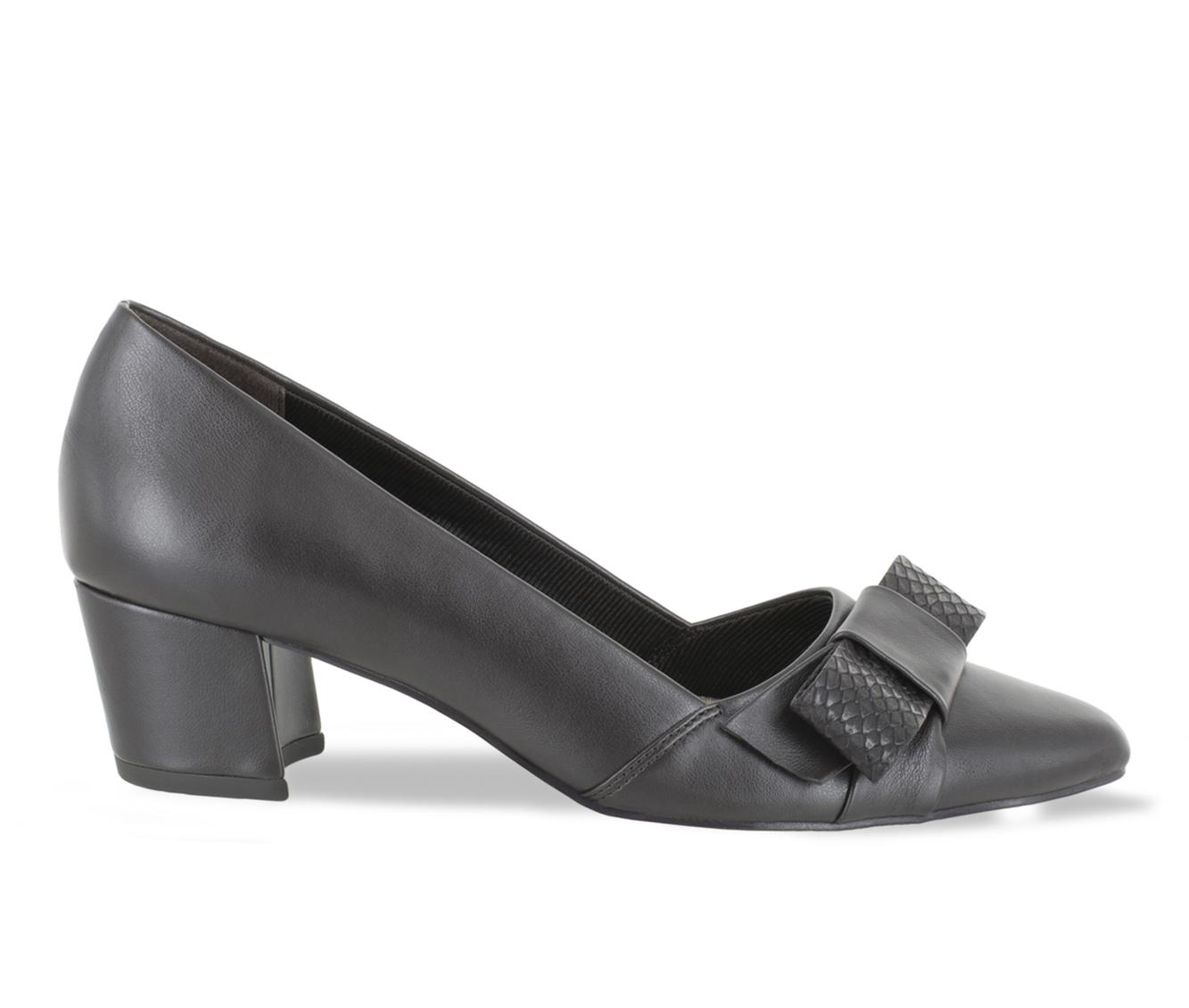 Easy Street Triana Women's Dress Shoe (Brown Faux Leather)