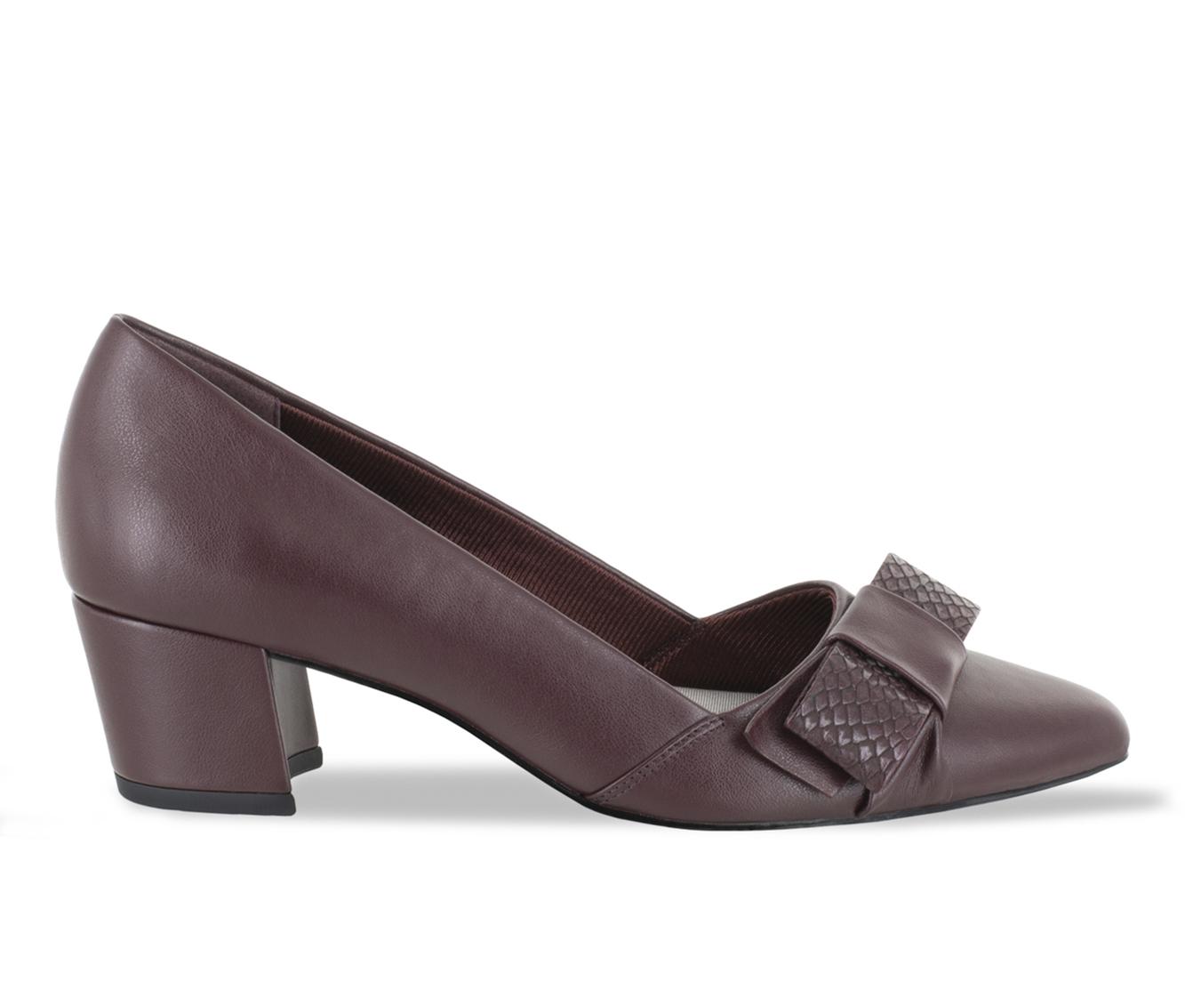 Easy Street Triana Women's Dress Shoe (Red Faux Leather)
