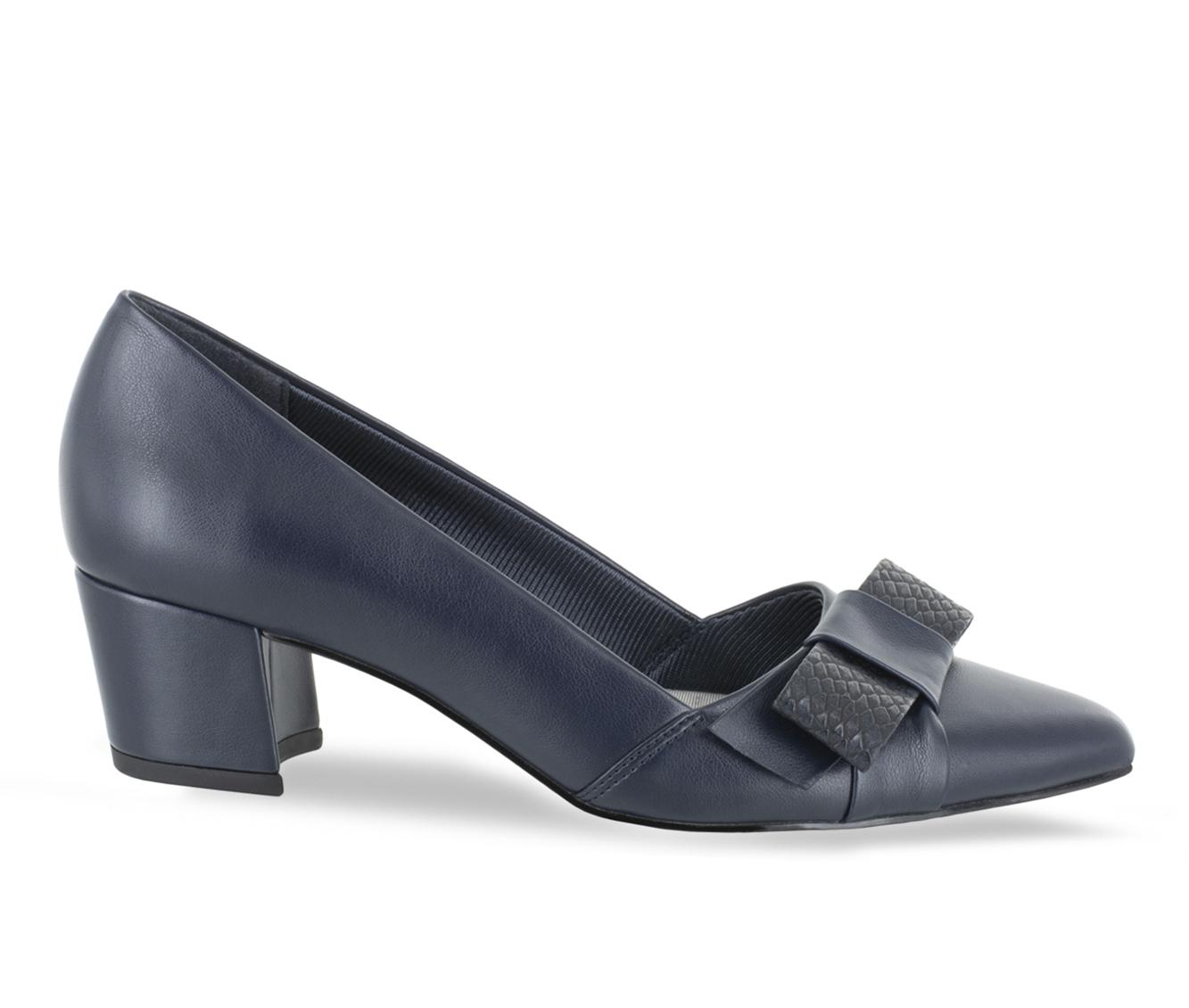 Easy Street Triana Women's Dress Shoe (Blue Faux Leather)