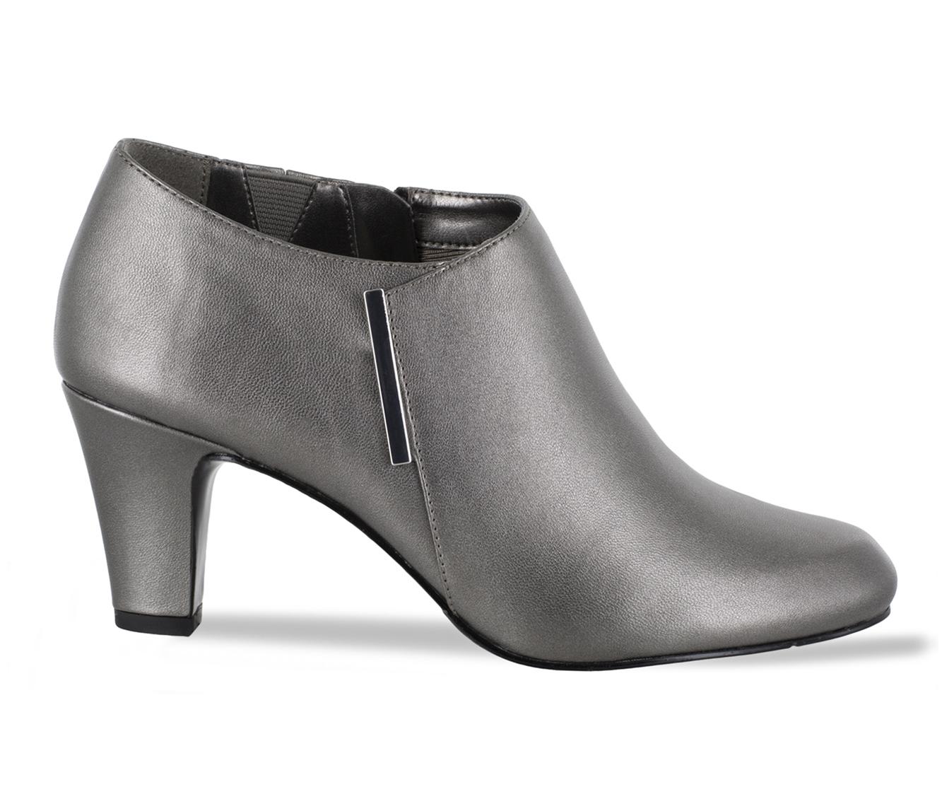 Easy Street Zandra Women's Dress Shoe (Silver Faux Leather)