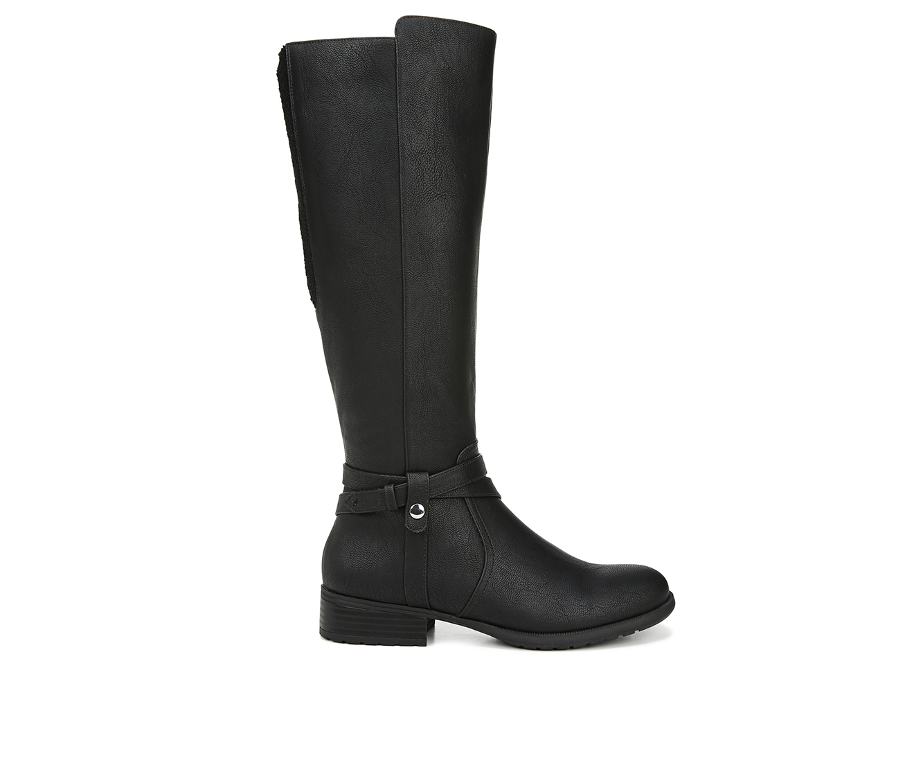 LifeStride Xtrovert Wide Calf Women's Boot (Black Faux Leather)