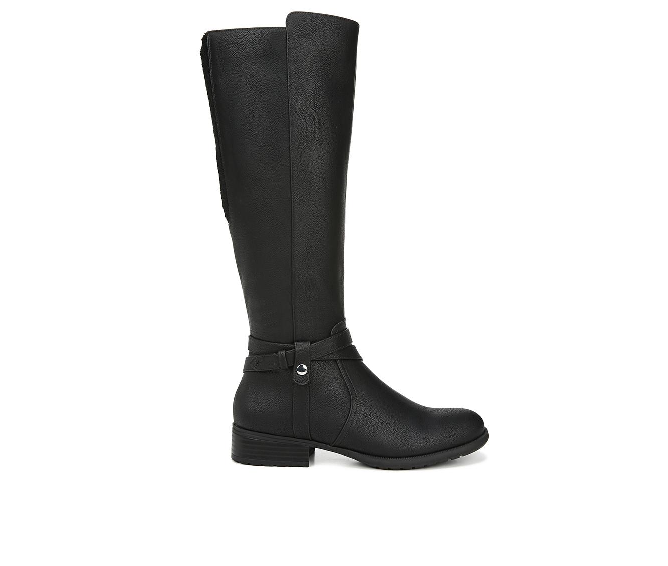 LifeStride Xtrovert Wide Calf Women's Boots (Black - Faux Leather)