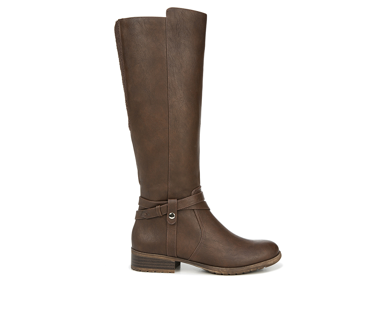 LifeStride Xtrovert Wide Calf Women's Boots (Brown - Faux Leather)