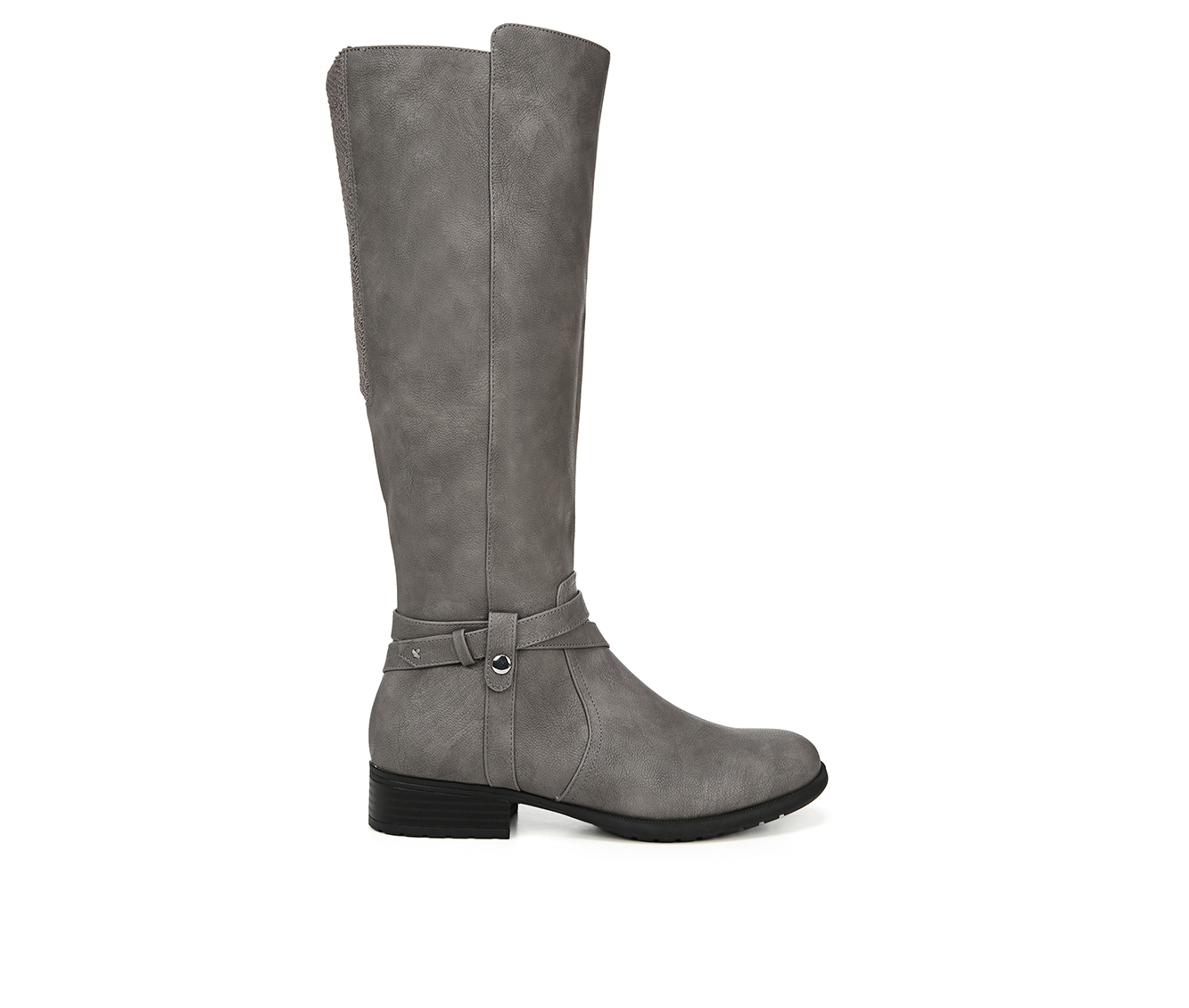 LifeStride Xtrovert Wide Calf Women's Boot (Gray Faux Leather)