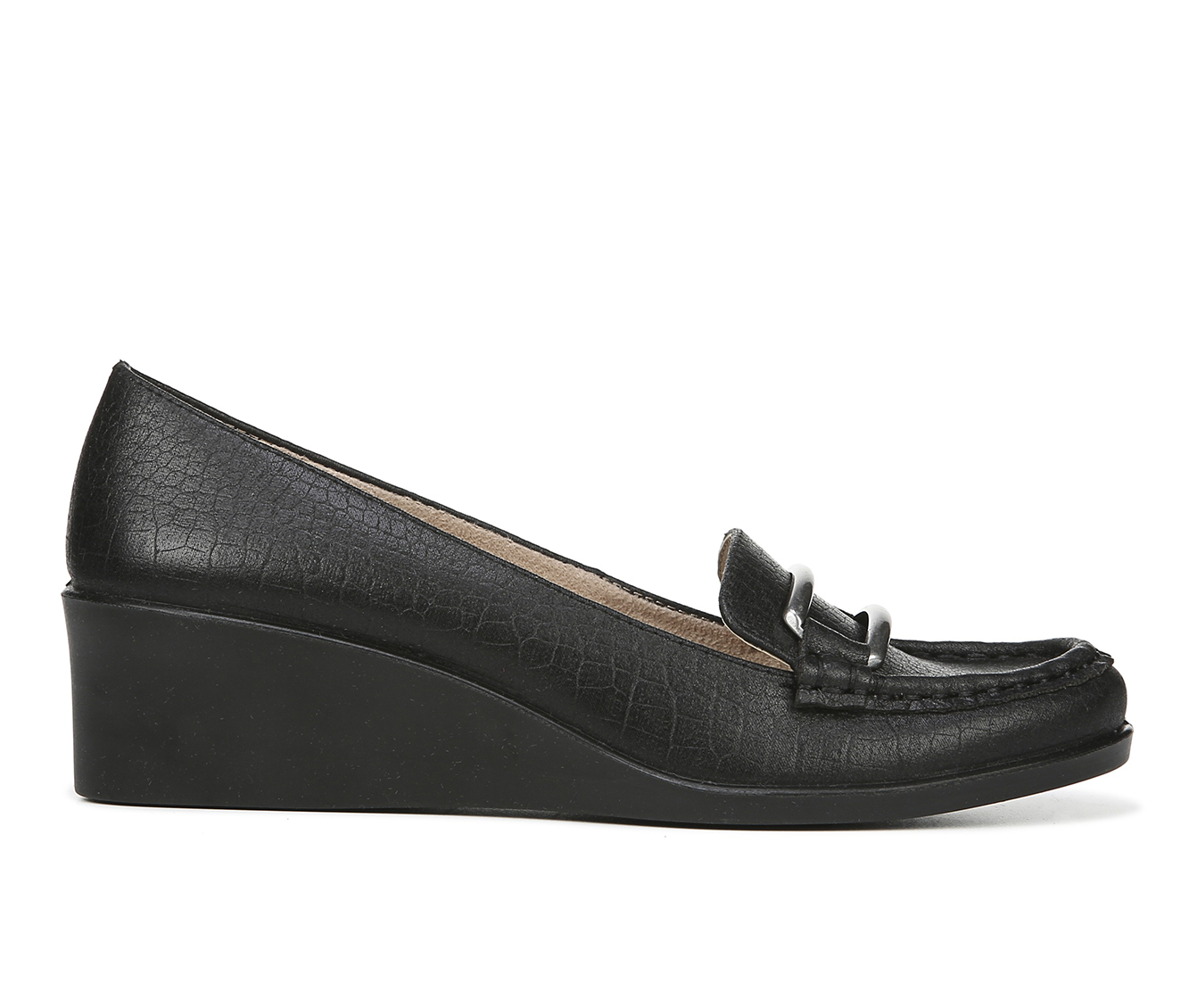 LifeStride Lennox Women's Shoe (Black Faux Leather)
