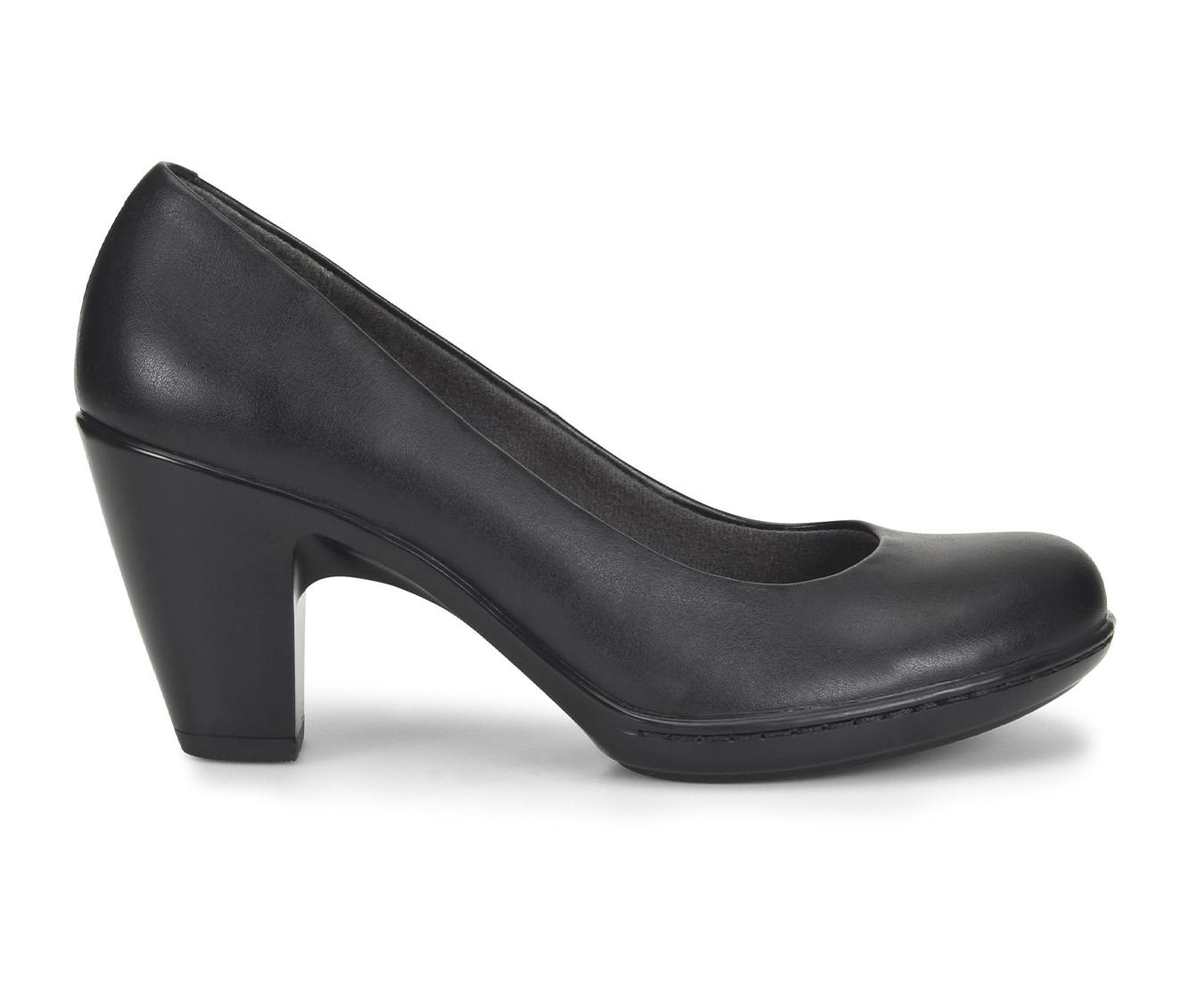 EuroSoft Vella Women's Dress Shoe (Black Faux Leather)