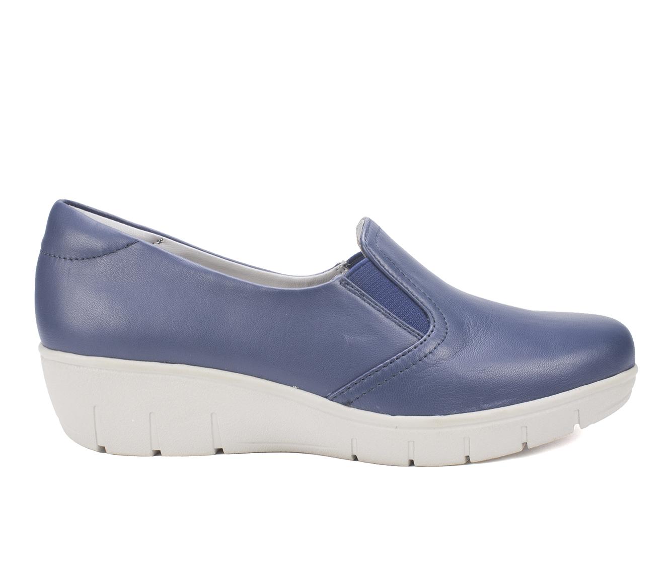 Cliffs Ella Women's Shoe (Blue Leather)