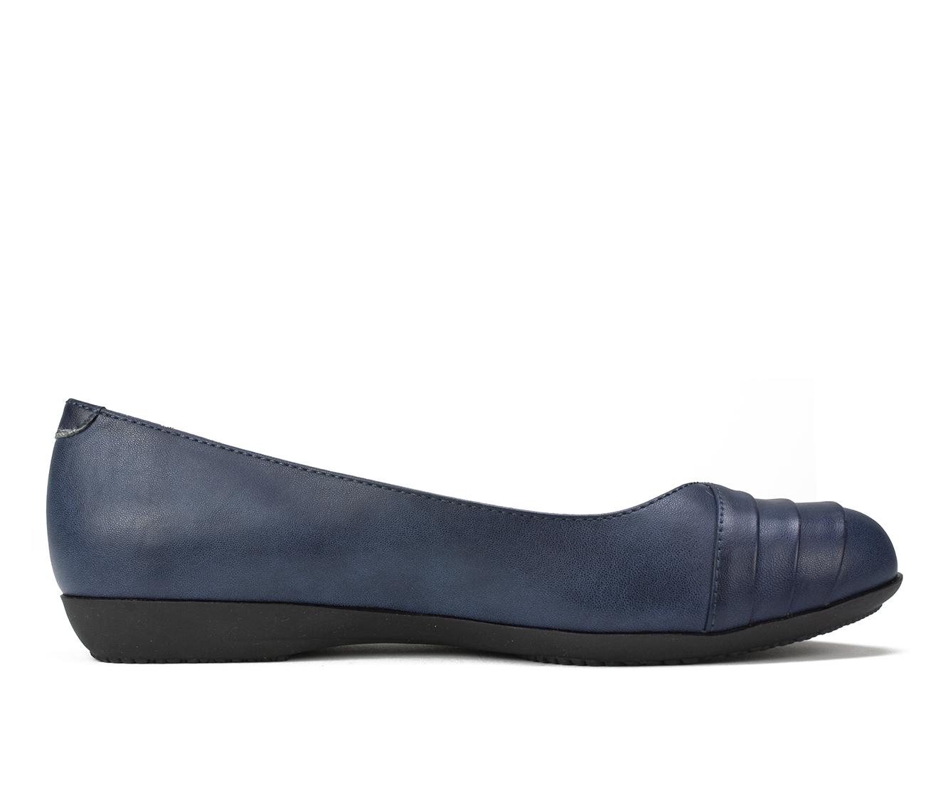 Cliffs Clara Women's Shoe (Blue Faux Leather)