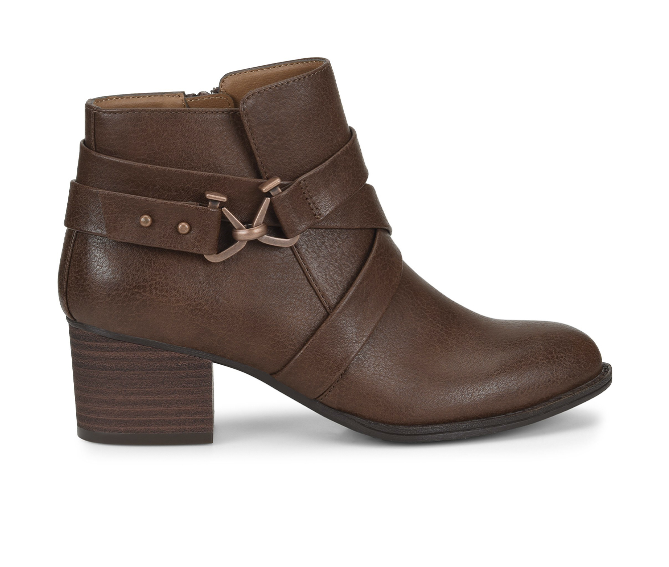 EuroSoft Witlee Women's Boot (Brown Faux Leather)