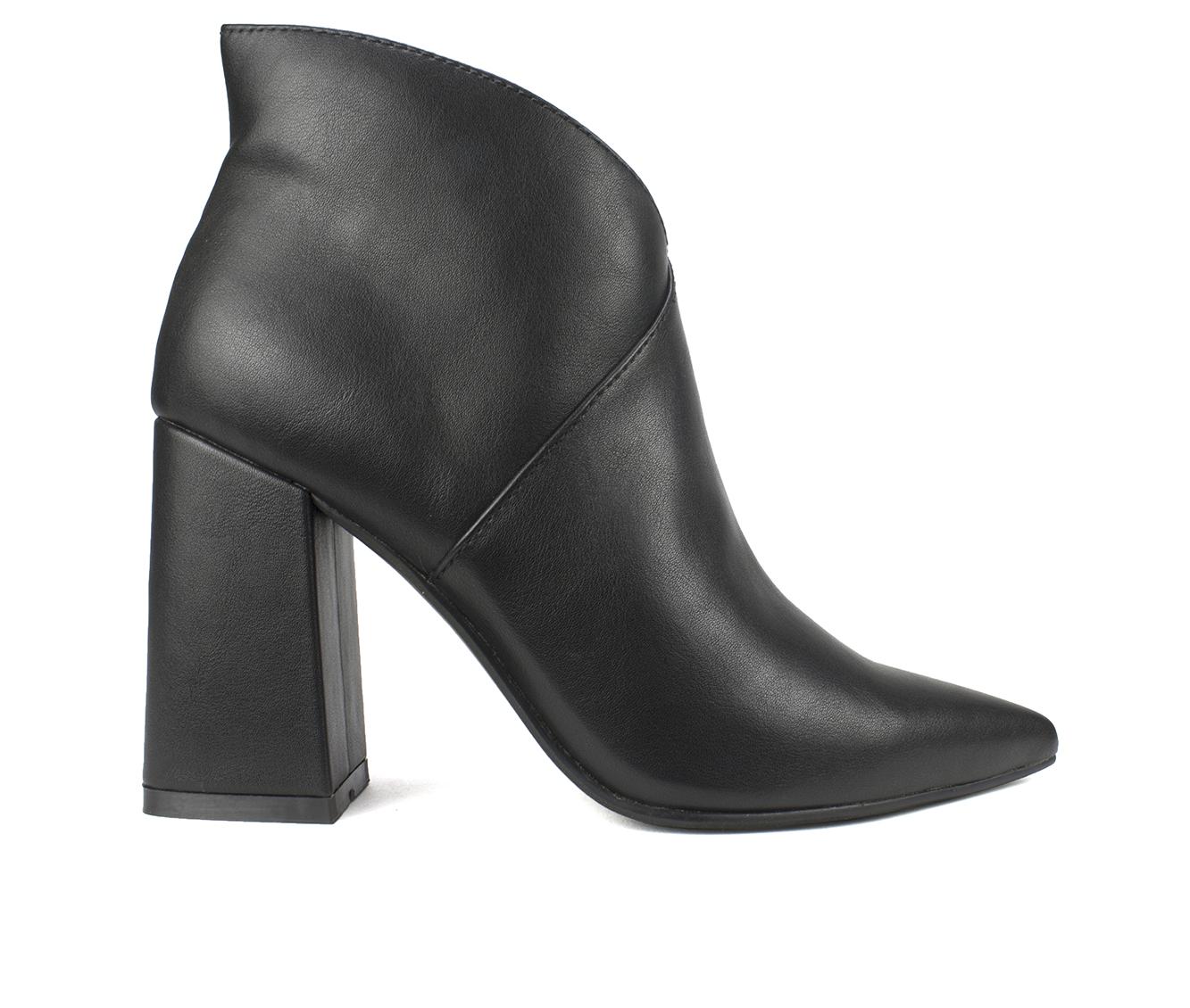 Seven Dials Falcon Women's Boots (Black - Faux Leather)