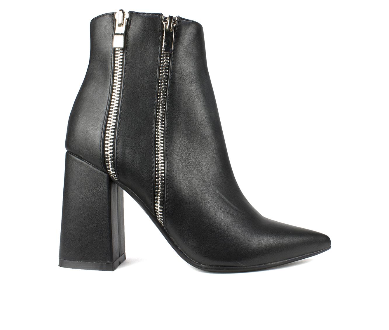 Seven Dials Fionah Women's Boots (Black - Faux Leather)