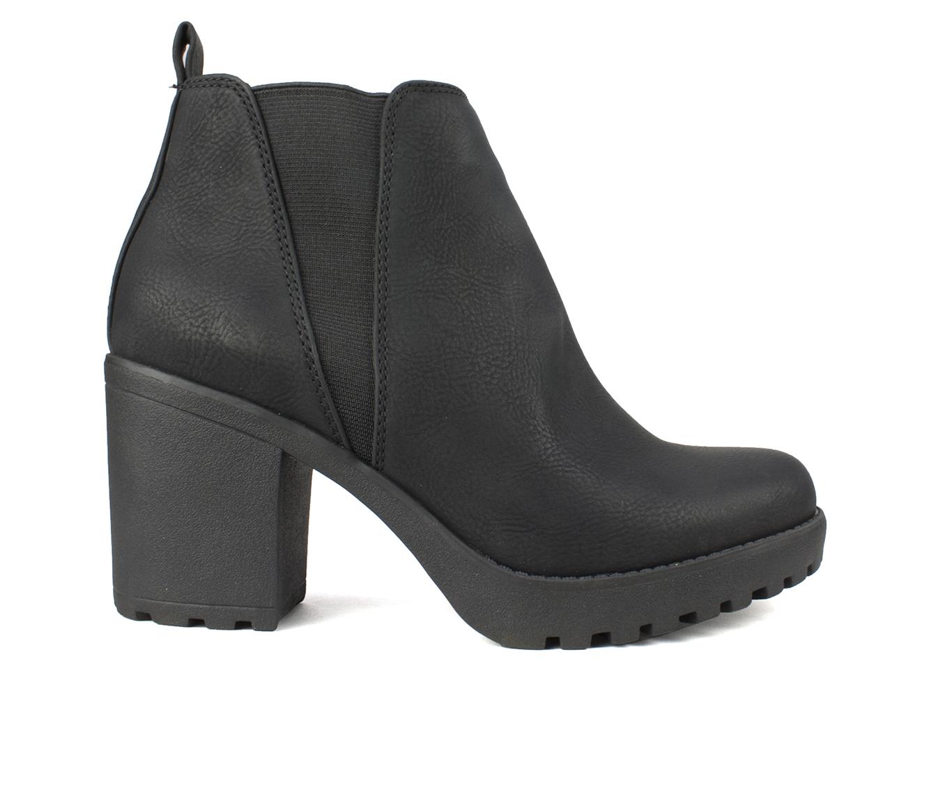 Seven Dials Pelton Women's Boot (Black Faux Leather)
