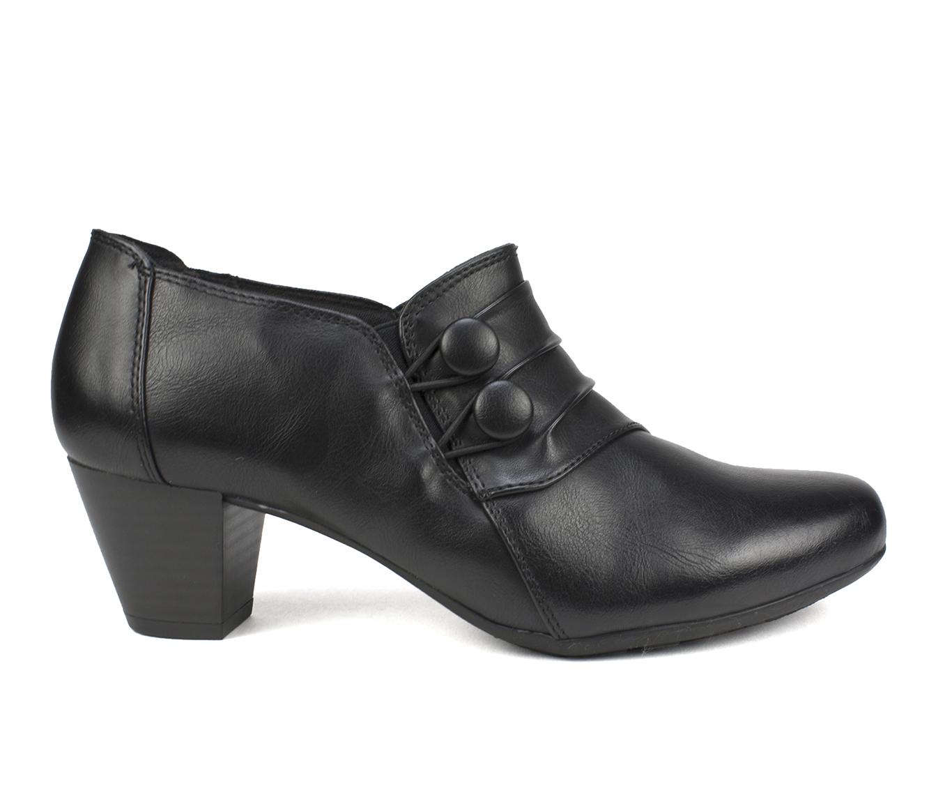 Cliffs Lampton Women's Dress Shoe (Black Faux Leather)