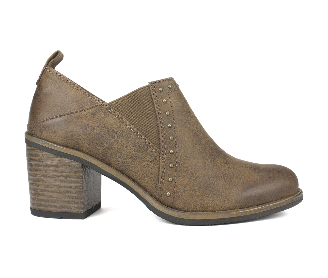 White Mountain Denton Women's Shoe (Brown Canvas)
