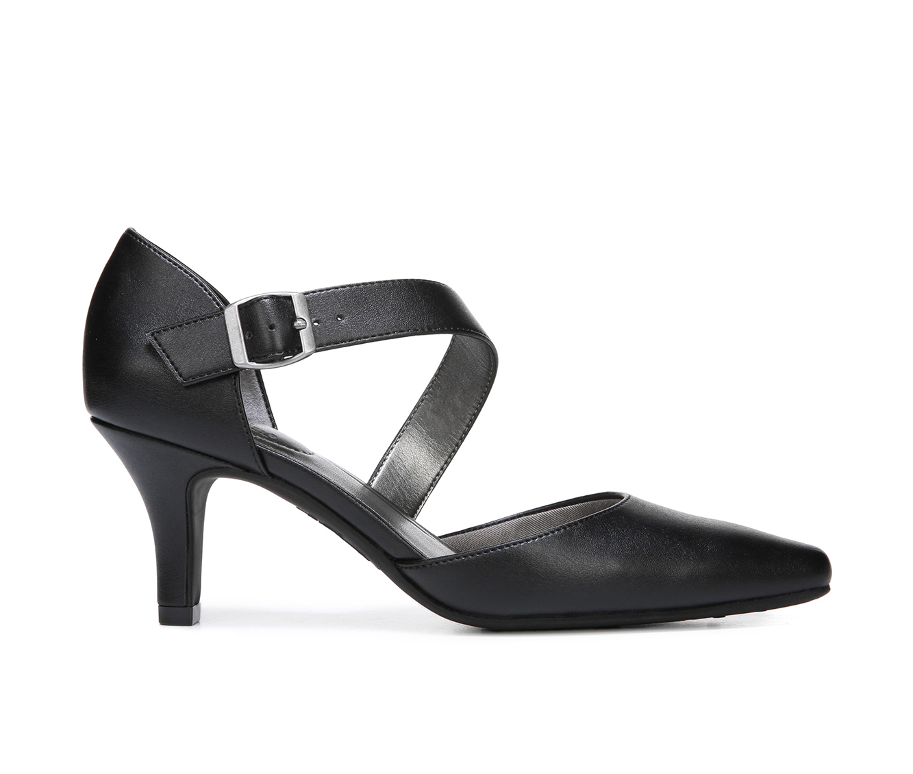LifeStride Kamala Women's Dress Shoe (Black Faux Leather)