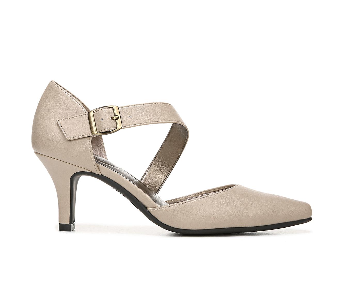 LifeStride Kamala Women's Dress Shoe (Beige Faux Leather)